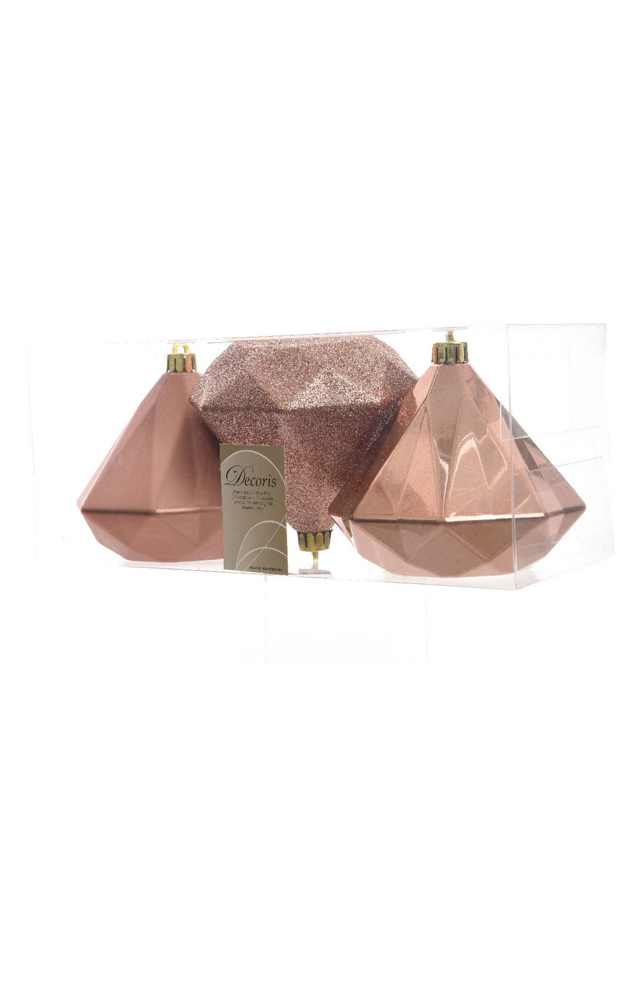 Decoris Set of 3 Giant Diamond Ornaments