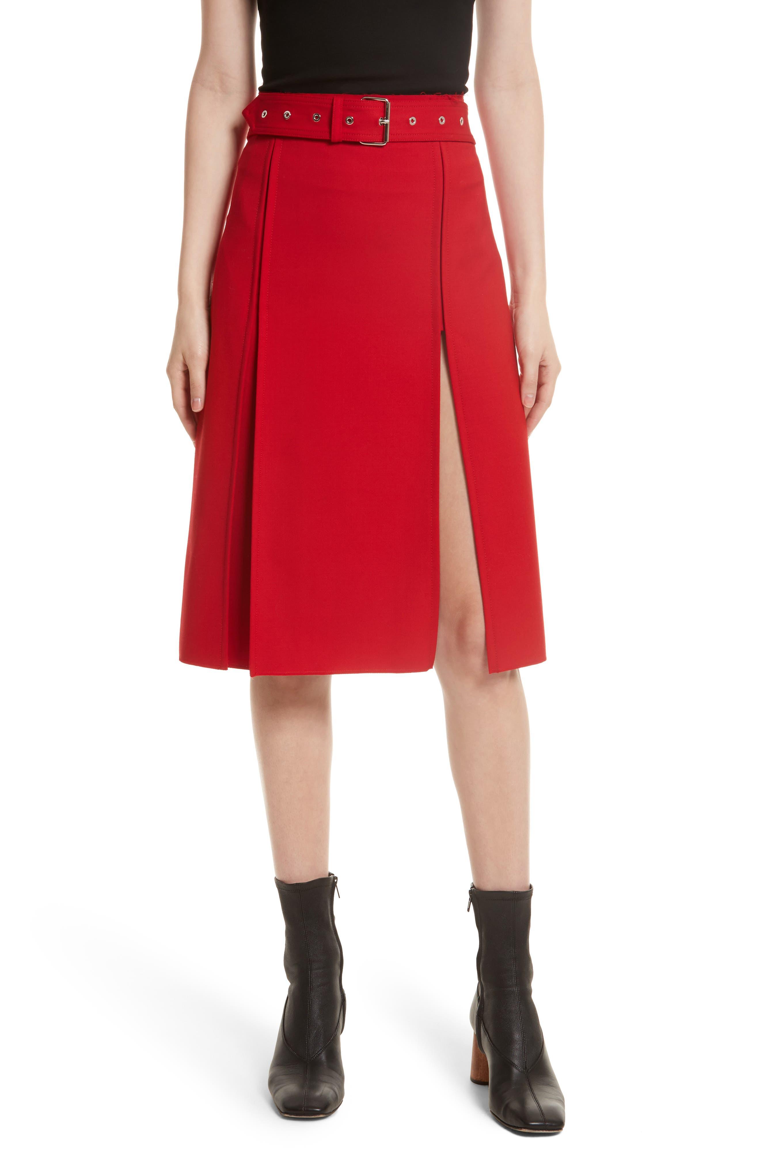 Suiting Kilt Skirt,                         Main,                         color, Amaryllis