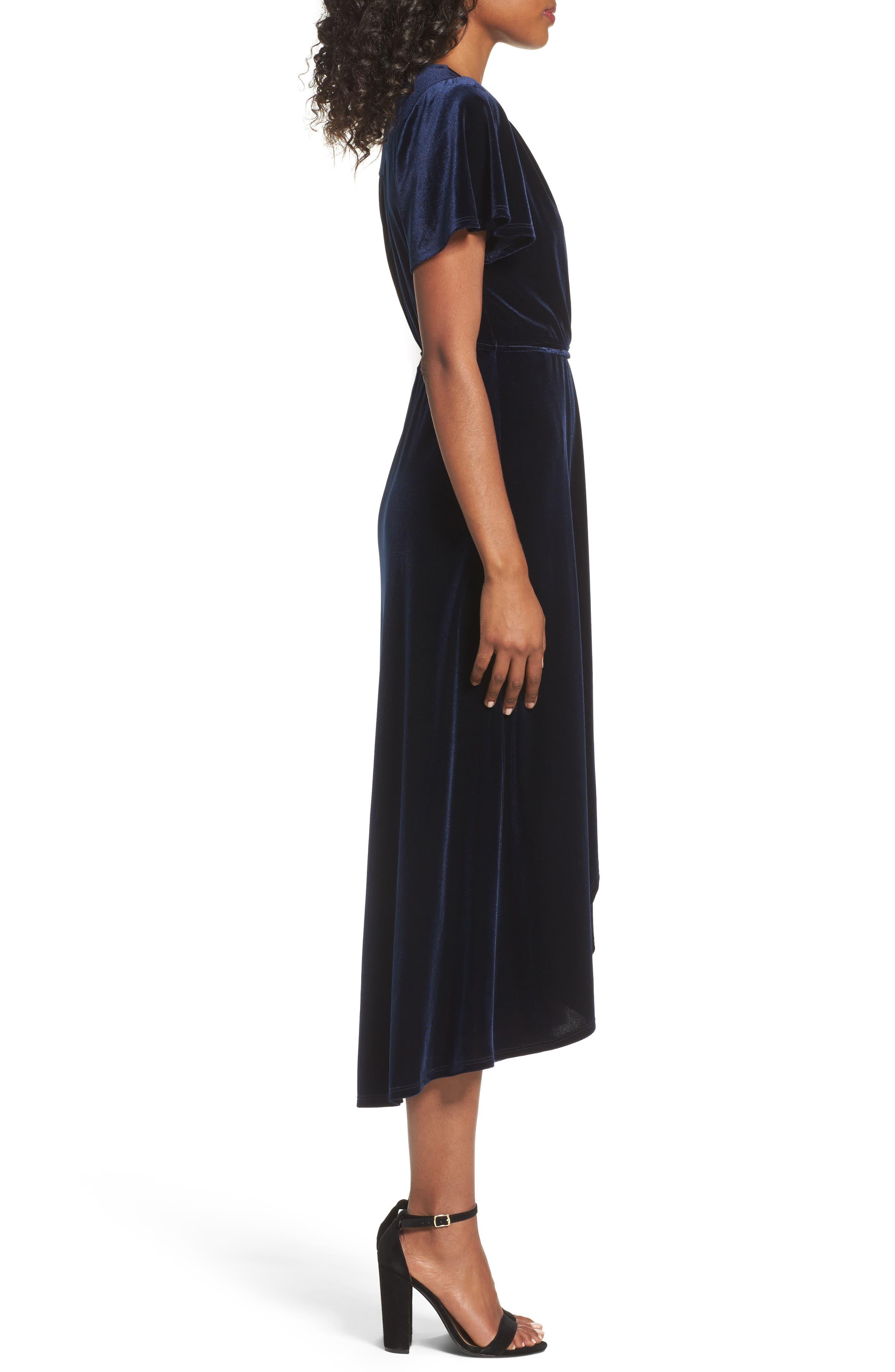 Alternate Image 3  - Chelsea28 Velvet Midi Dress