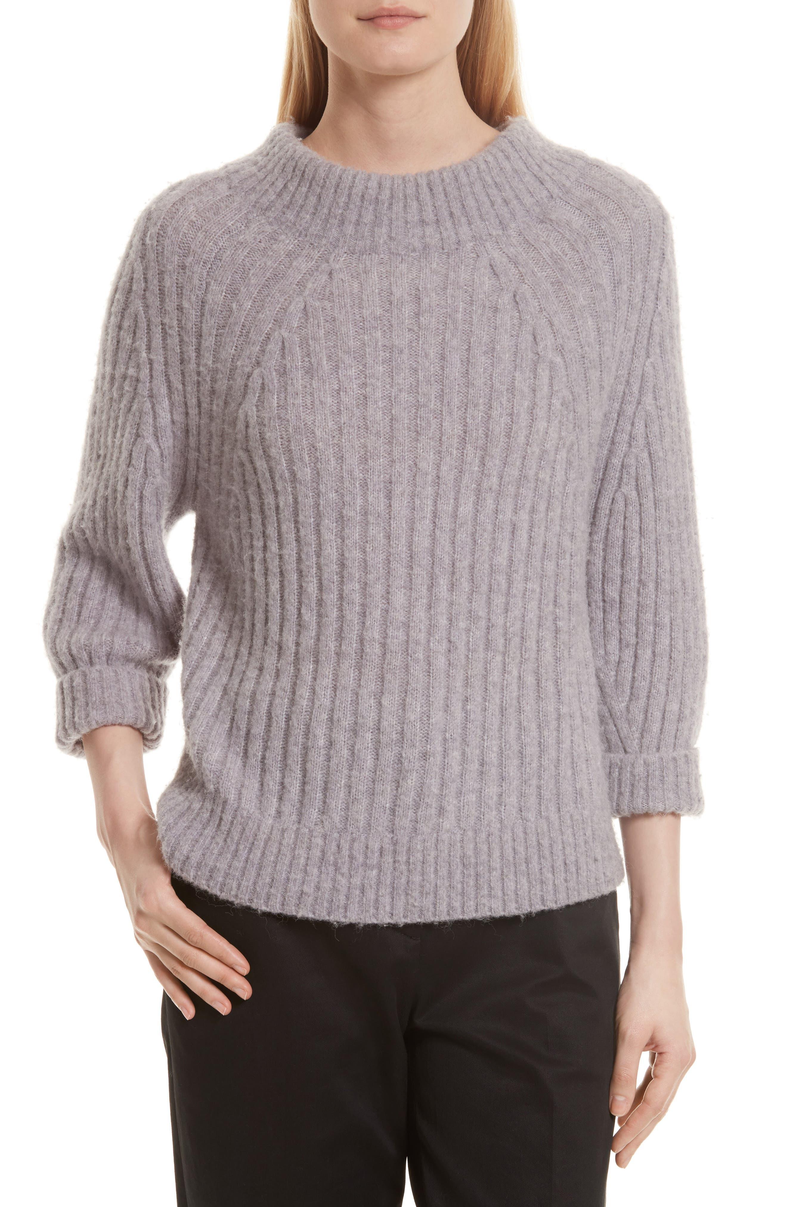 Rib Knit Sweater,                         Main,                         color, Lilac