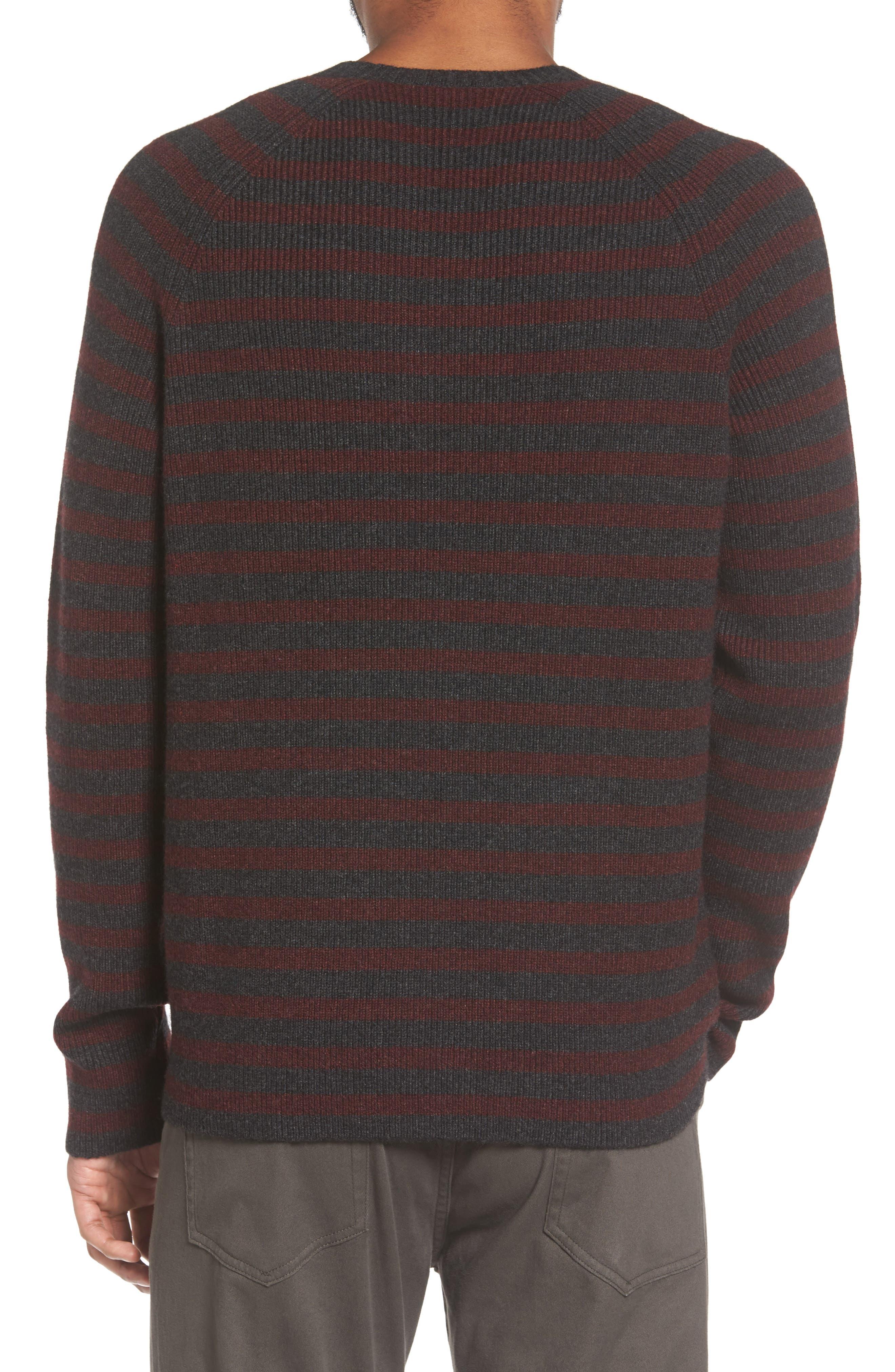Alternate Image 2  - Vince Stripe Wool & Cashmere Sweater