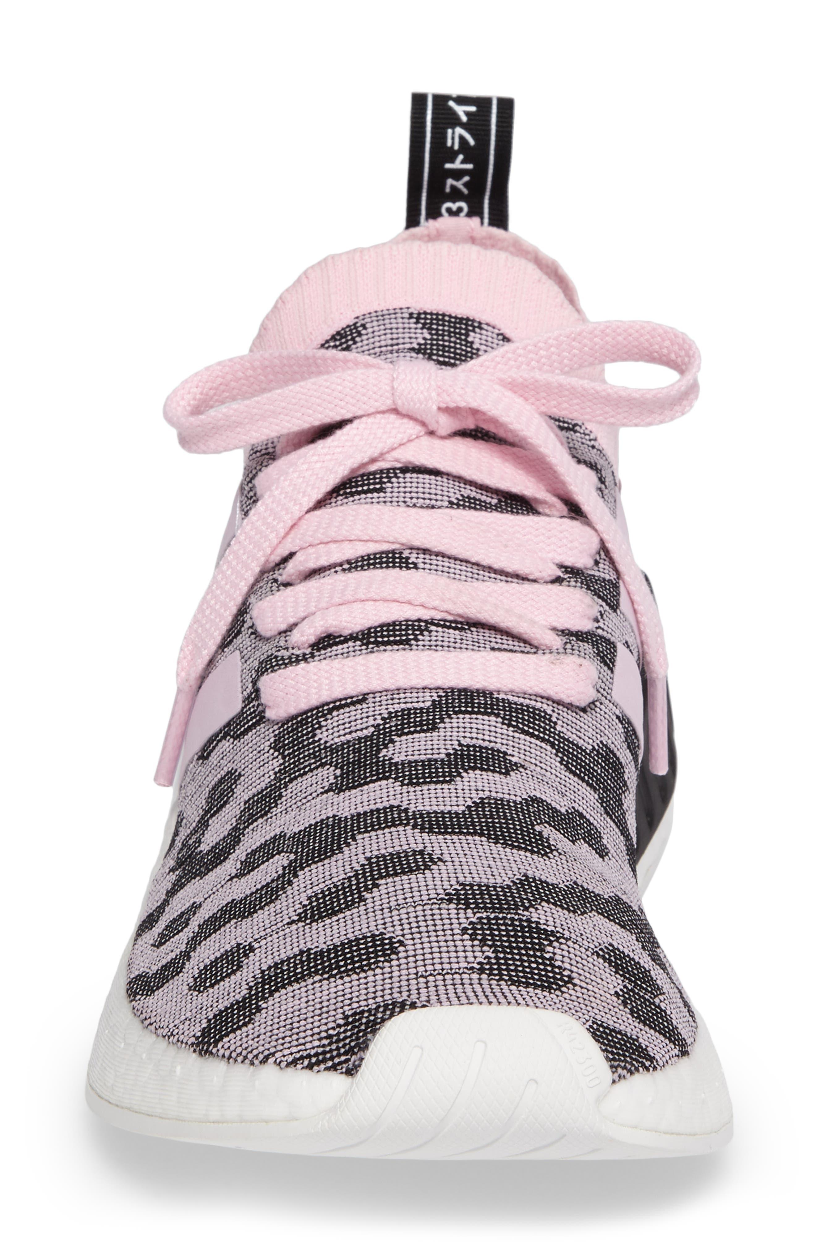 NMD R2 Primeknit Athletic Shoe,                             Alternate thumbnail 4, color,                             Wonder Pink/ Wonder Pink