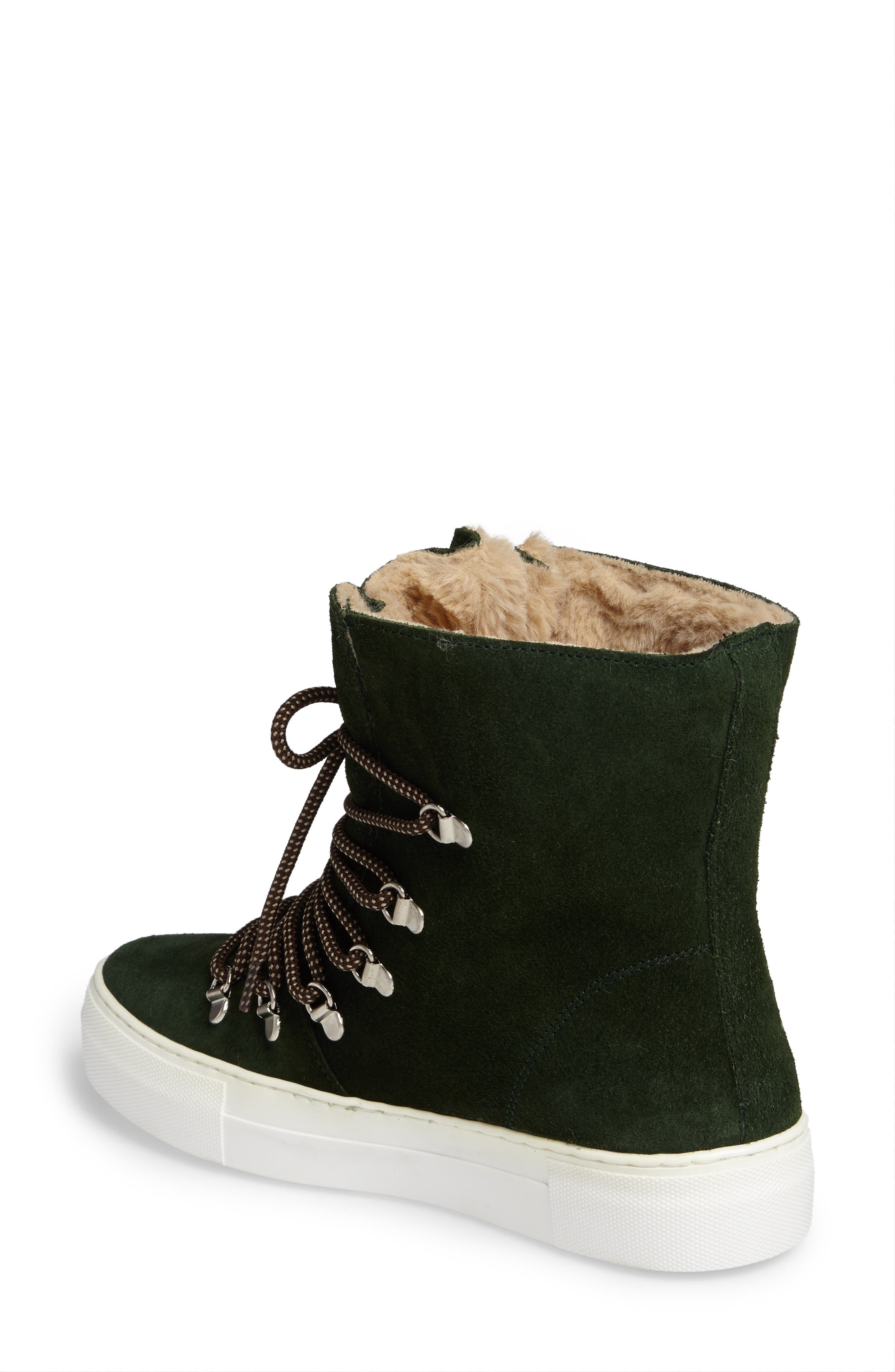Cimone High Top Sneaker,                             Alternate thumbnail 2, color,                             Green Suede