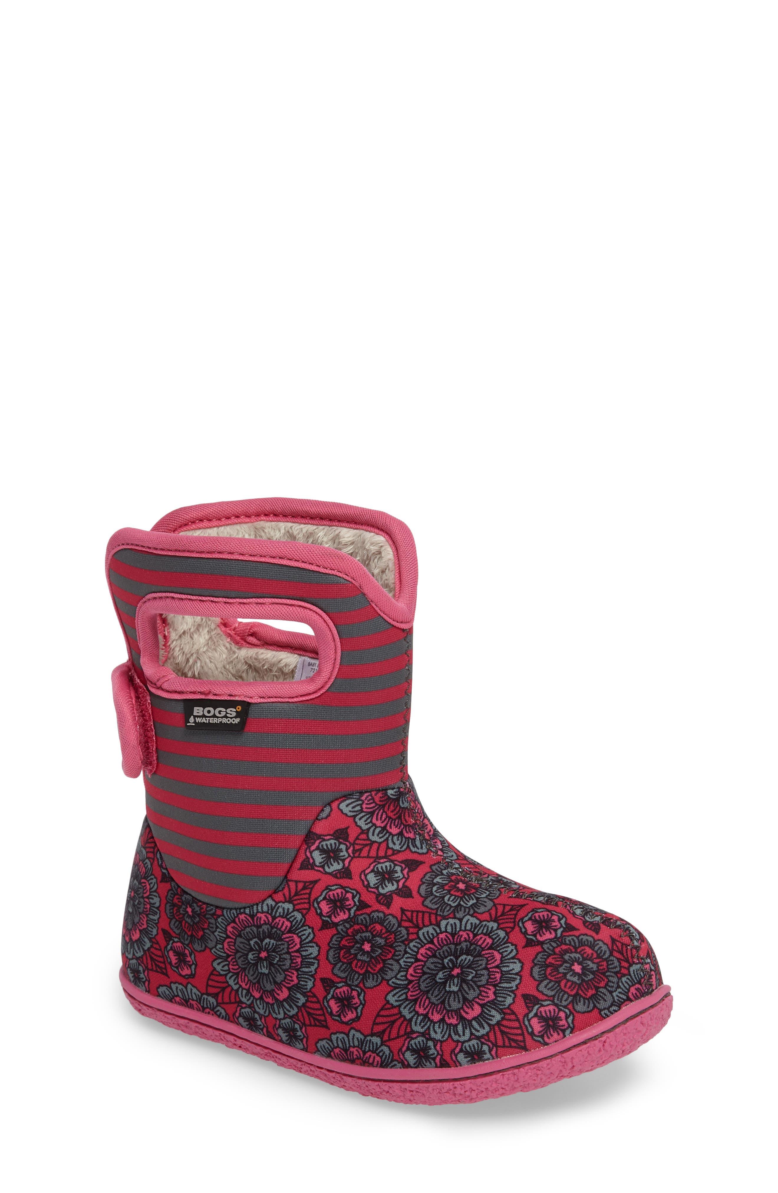 BOGS Baby Bogs Pansy Stripe Waterproof Boot