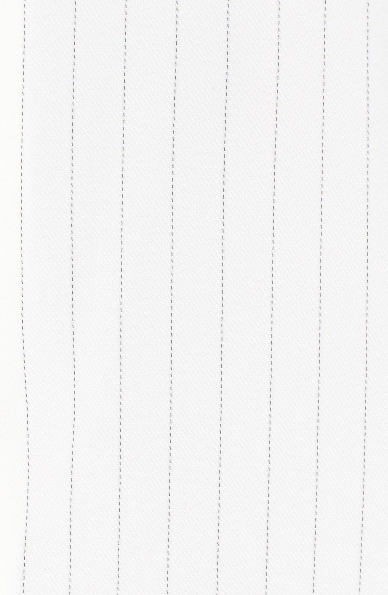 Alternate Image 5  - J.O.A. Pinstripe Tie Sleeve Top