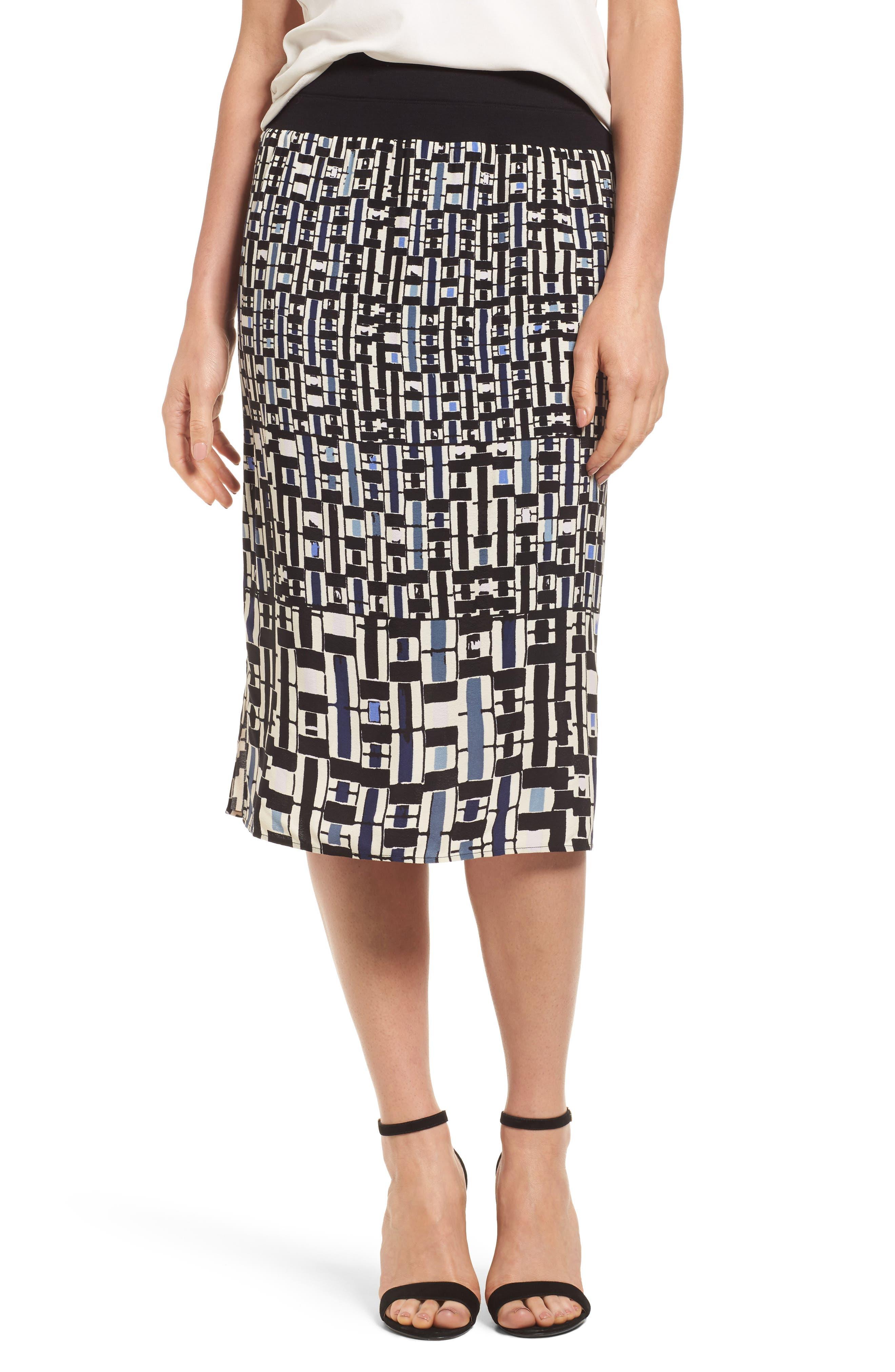 NIC+ZOE Mixed Check Skirt