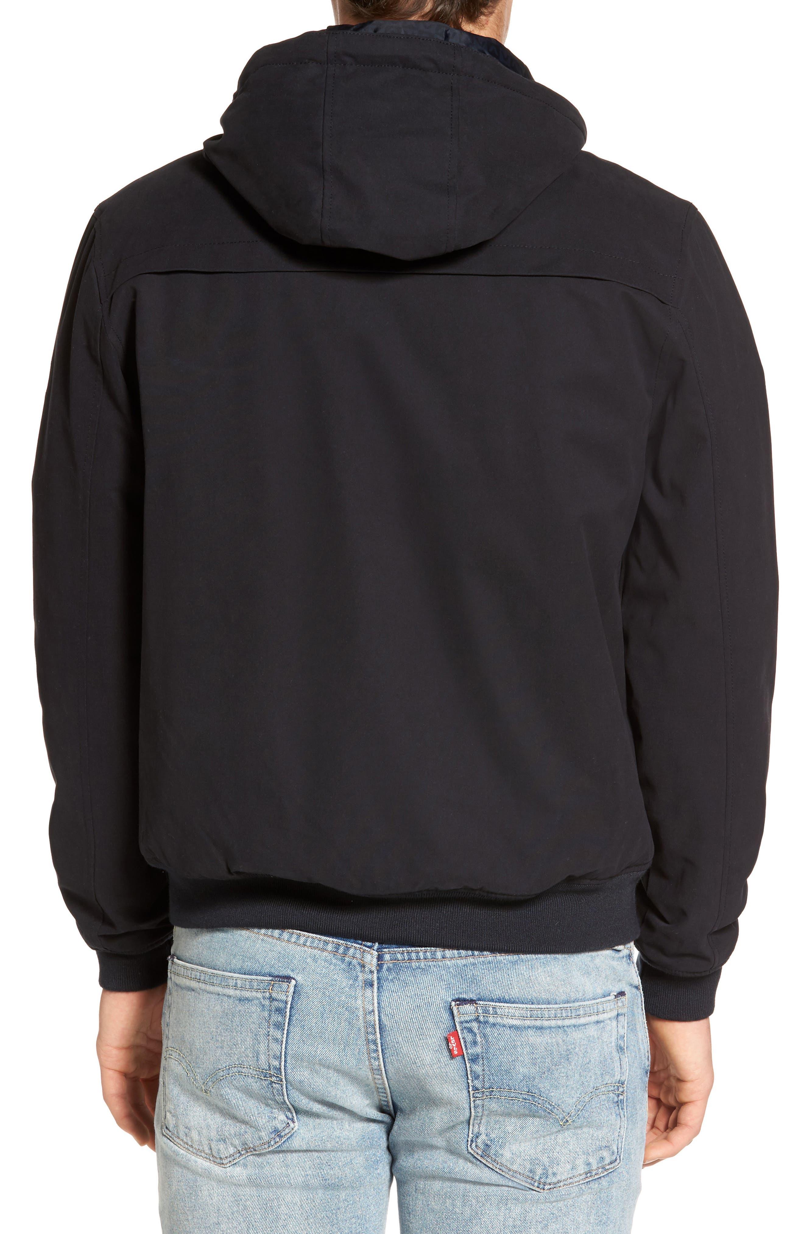 Hooded Bomber Jacket,                             Alternate thumbnail 2, color,                             Black