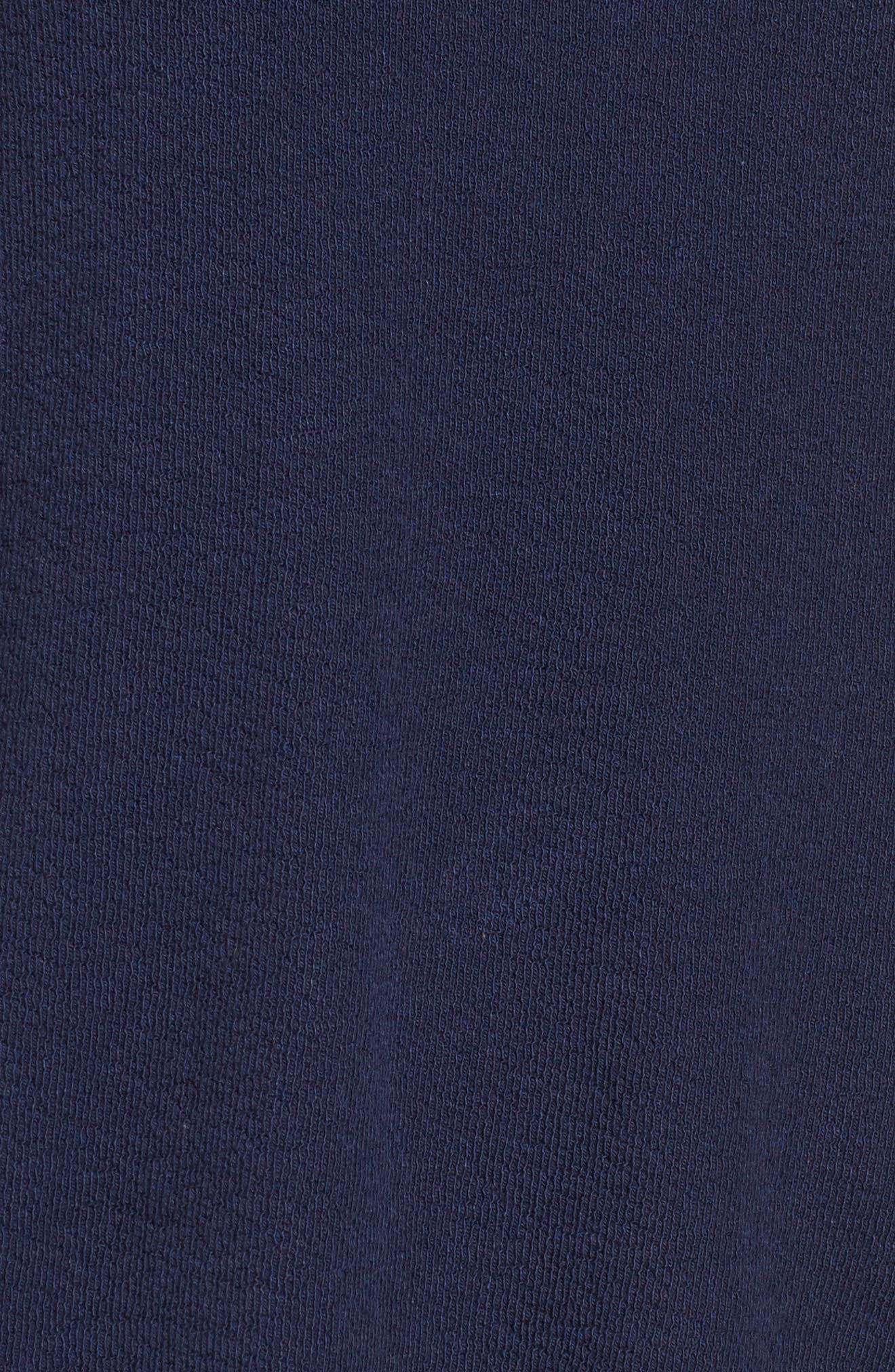 Crochet Lace Trim Sweatshirt,                             Alternate thumbnail 5, color,                             Navy Peacoat