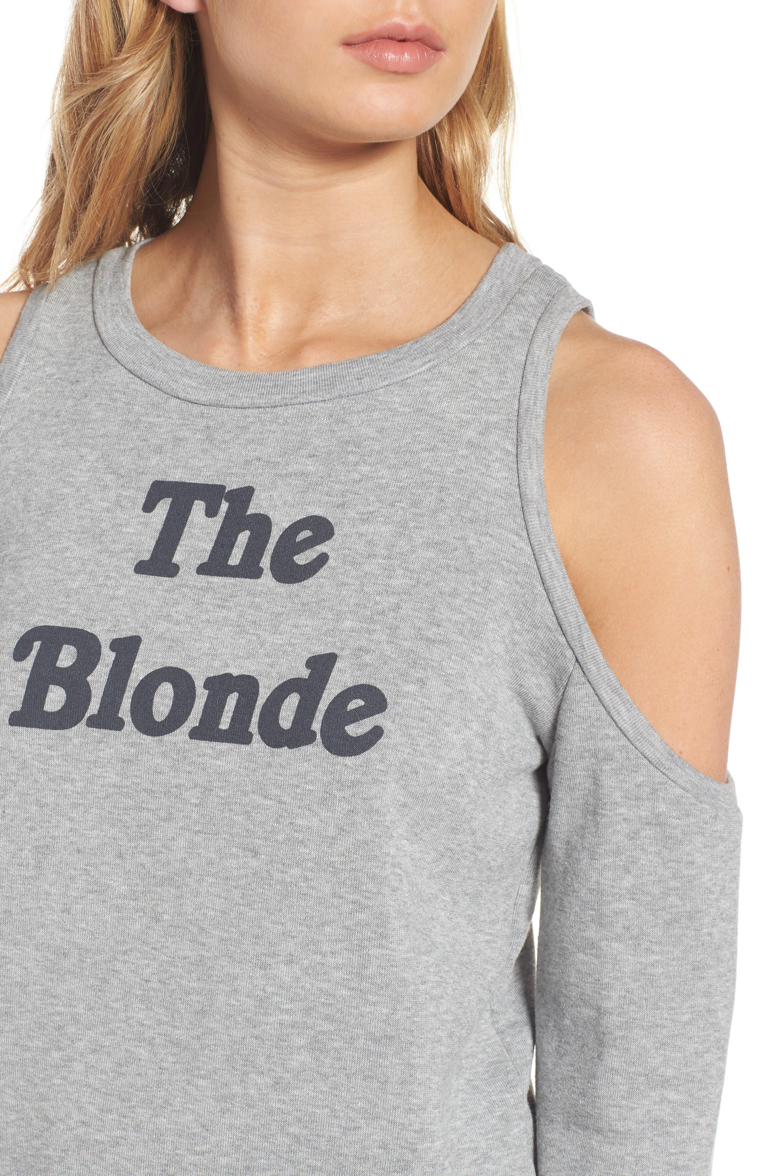 Alternate Image 4  - PST by Project Social T The Blonde Cold Shoulder Sweatshirt
