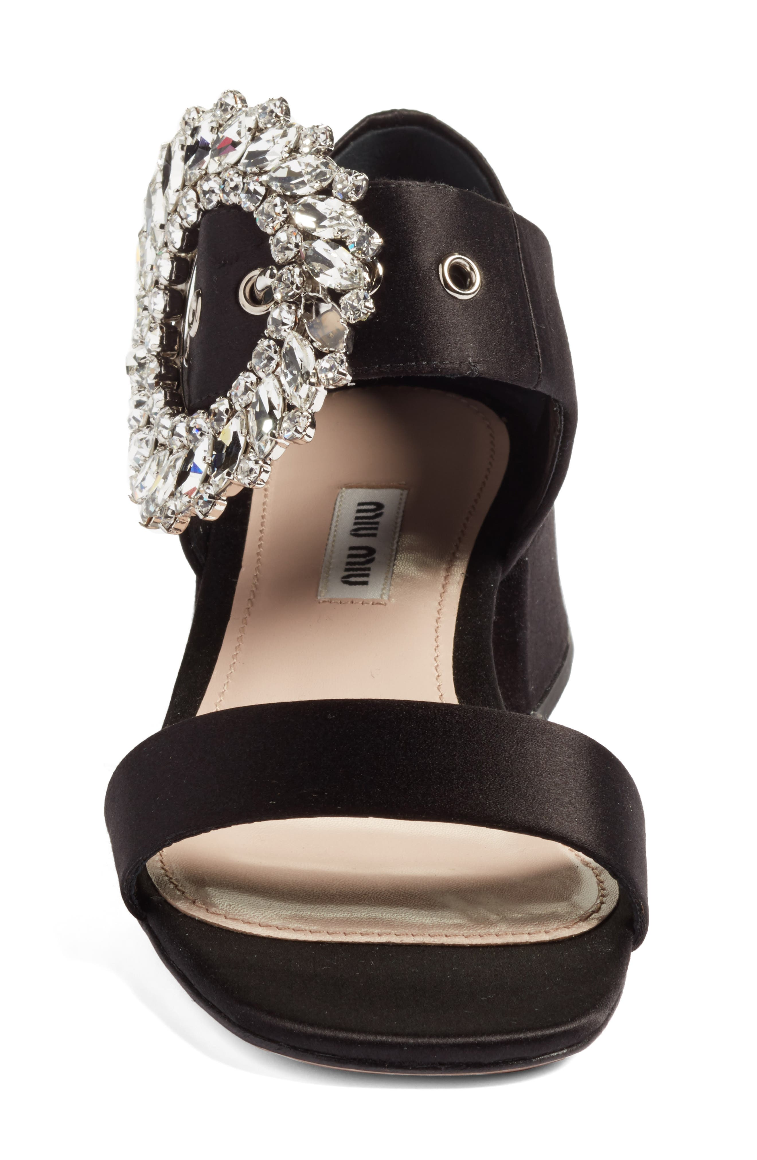 Alternate Image 4  - Miu Miu Crystal Buckle Mary Jane Sandal (Women)