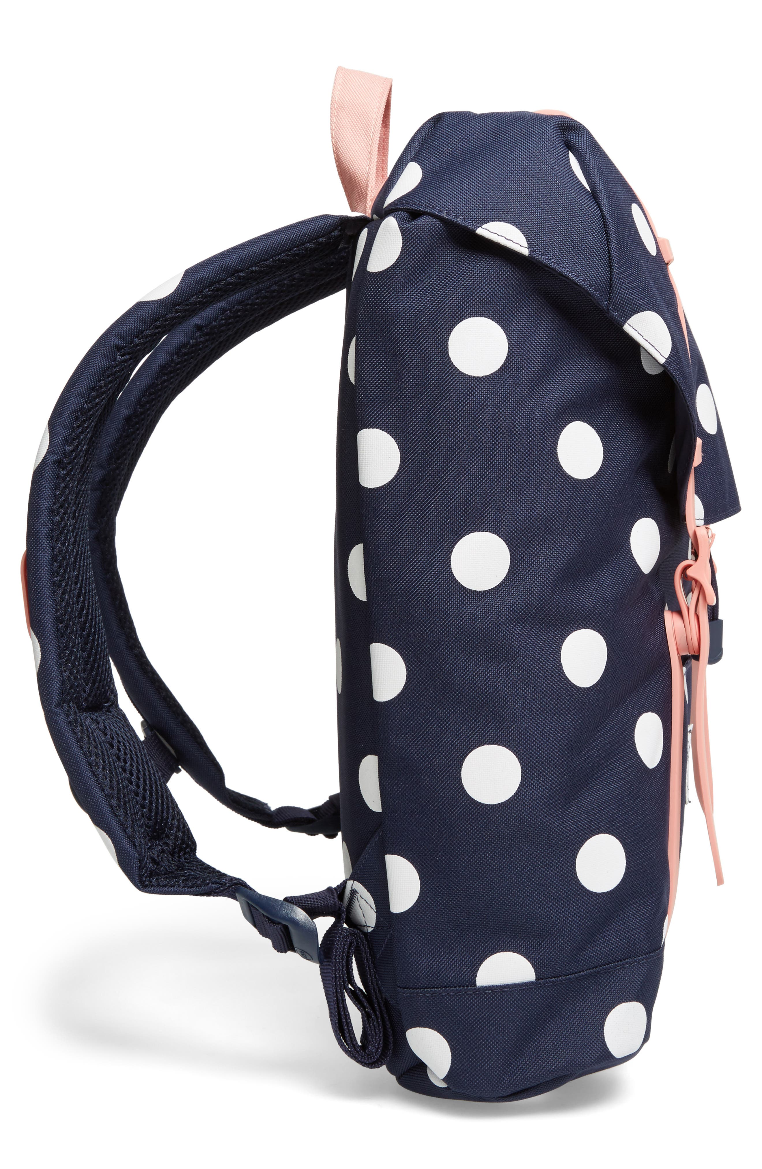 Retreat Backpack,                             Alternate thumbnail 3, color,                             Polka Dot/ Strawberry