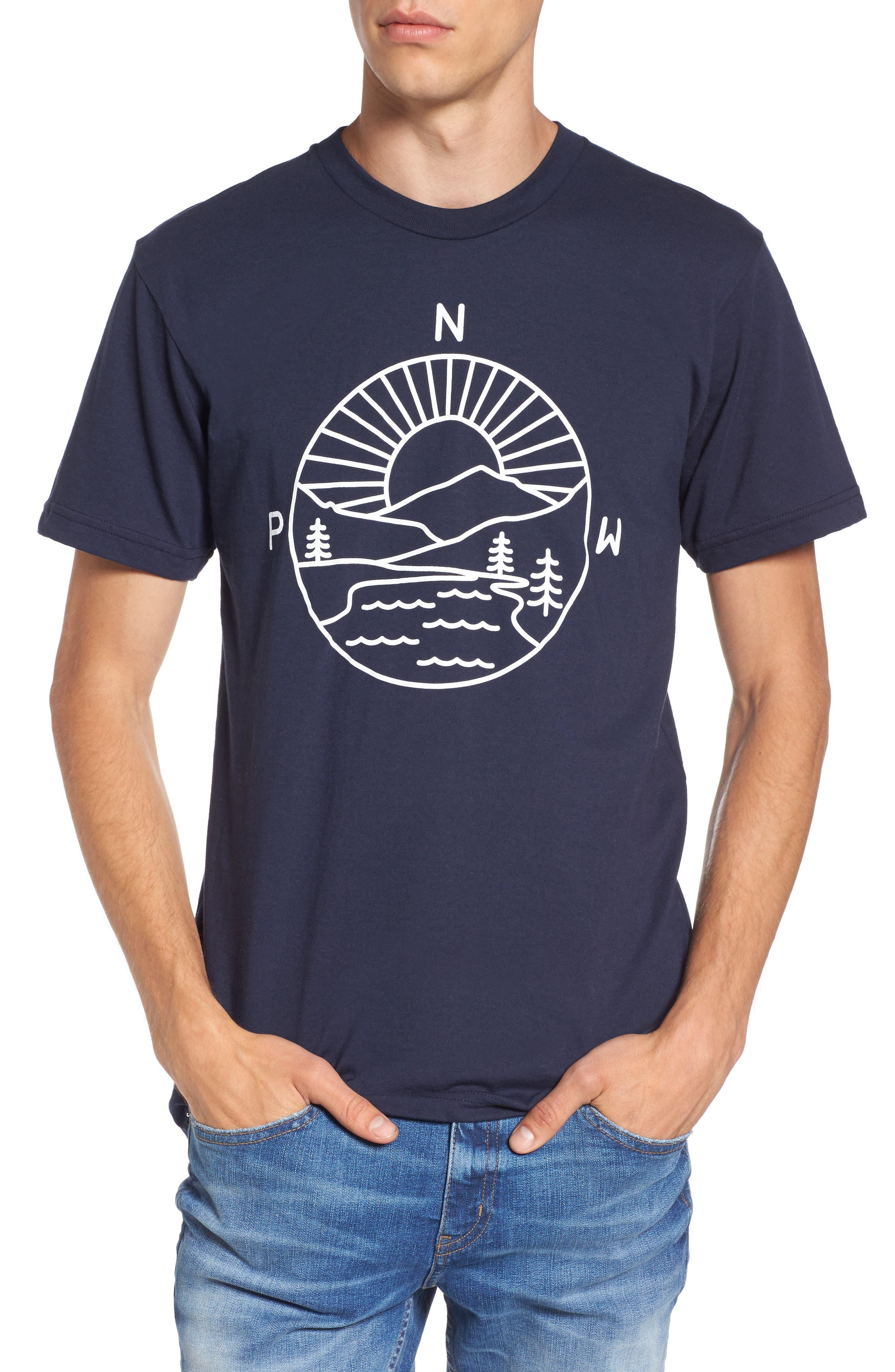 PNW Explorer T-Shirt,                         Main,                         color, Navy Blue