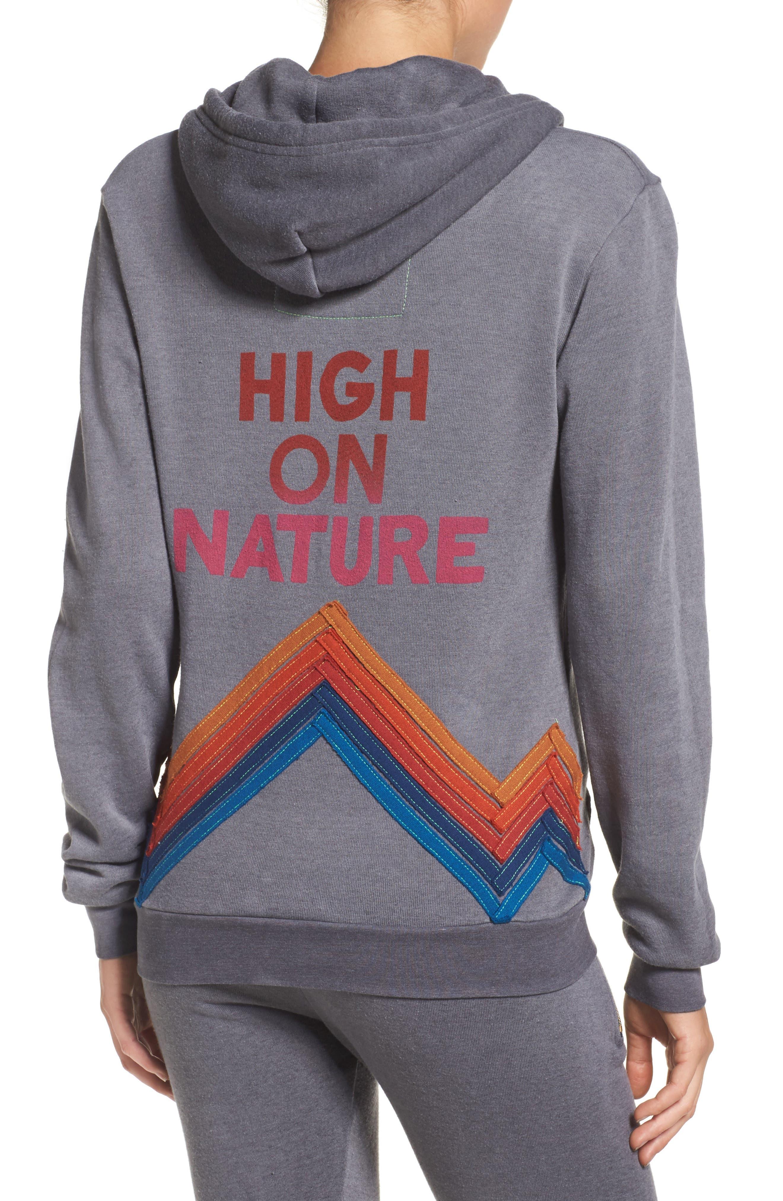 Alternate Image 2  - Aviator Nation High on Nature Hoodie
