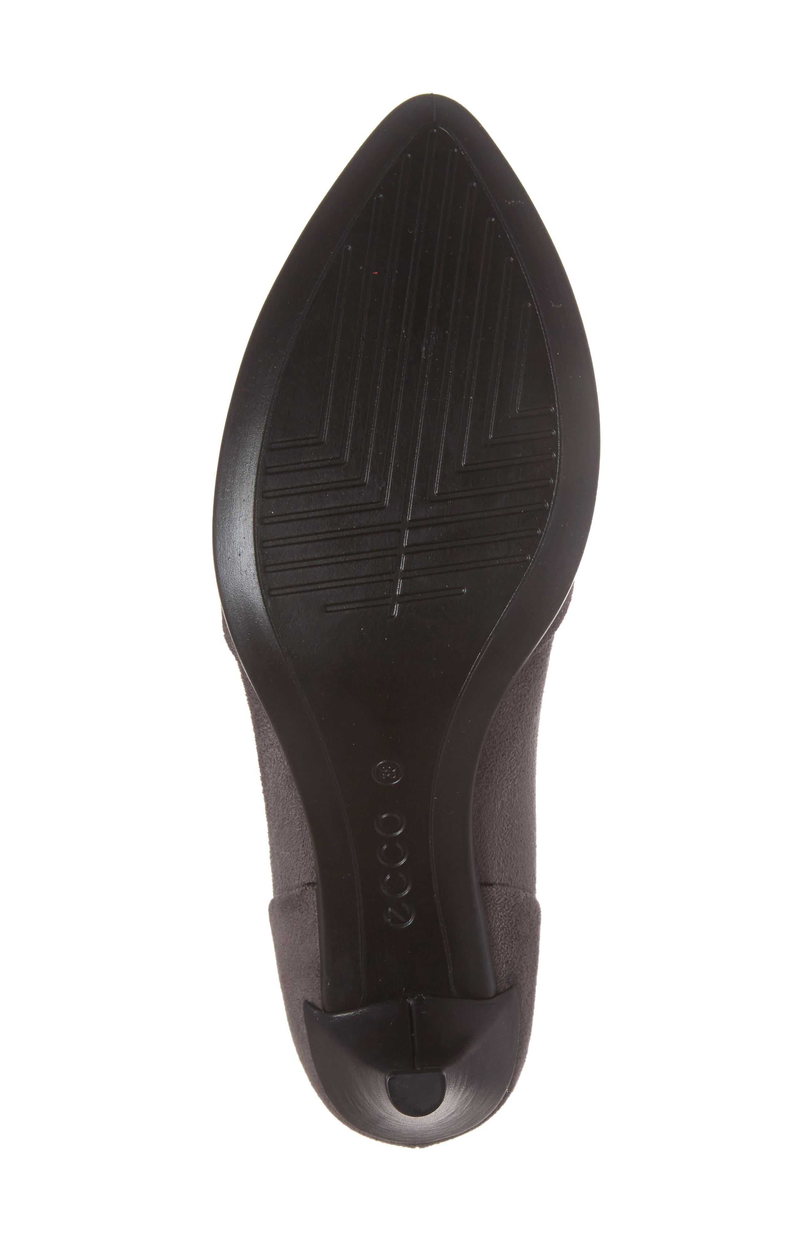 Shape 45 Pump,                             Alternate thumbnail 6, color,                             Titanium/ Black Leather