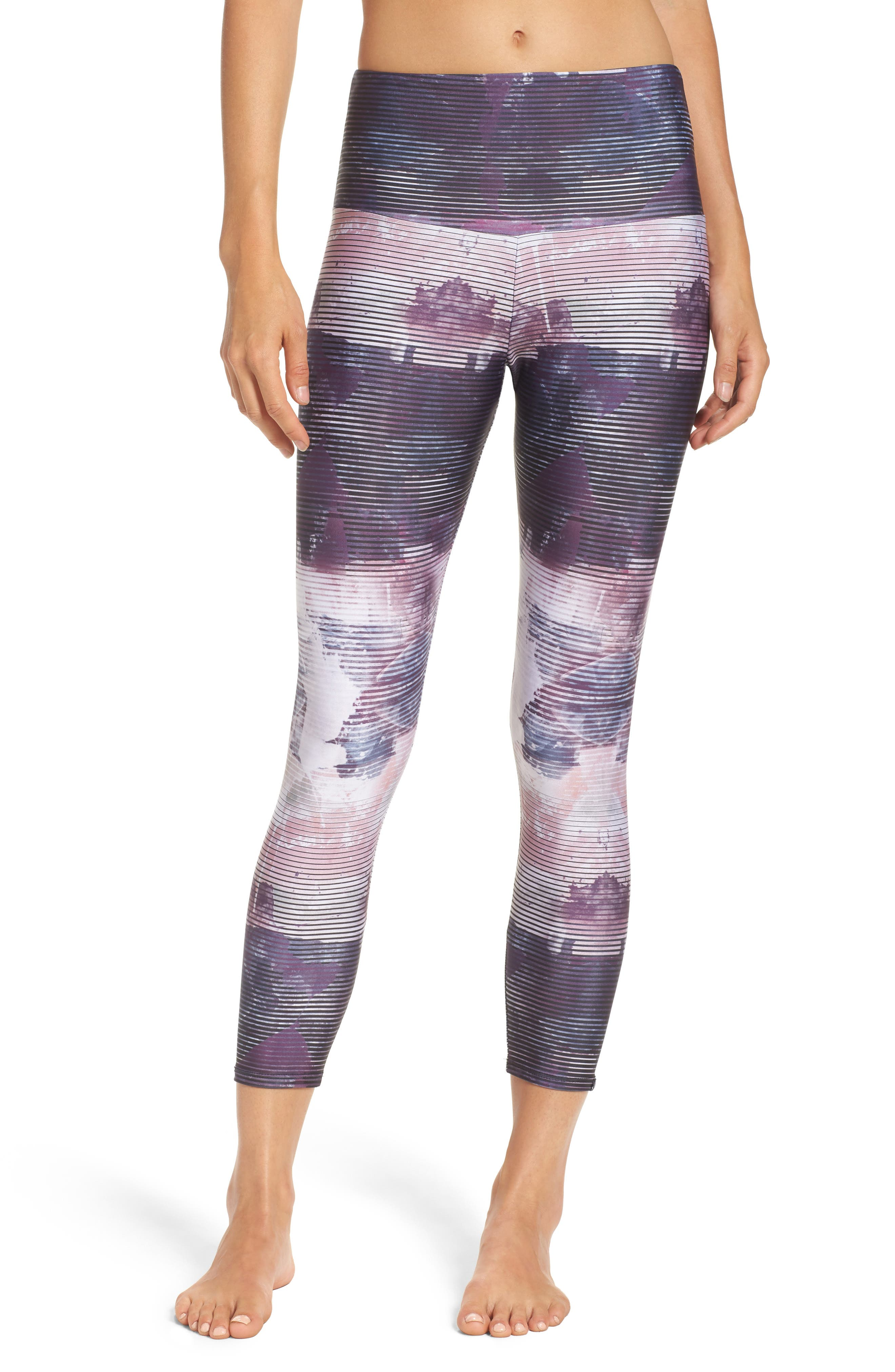 High Rise Capris,                         Main,                         color, Abstract