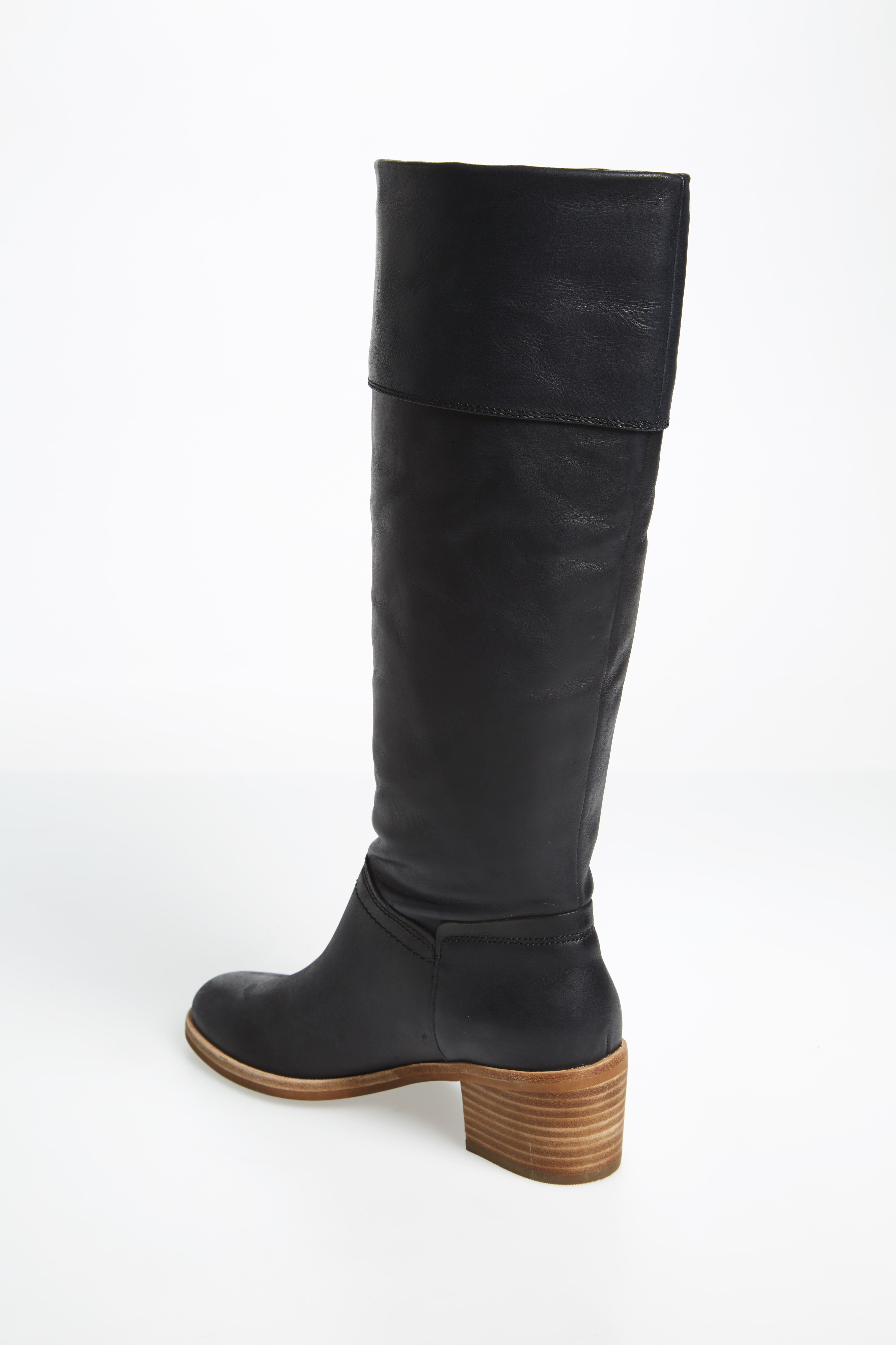 Carlin Tall Boot,                             Alternate thumbnail 2, color,                             Black Leather