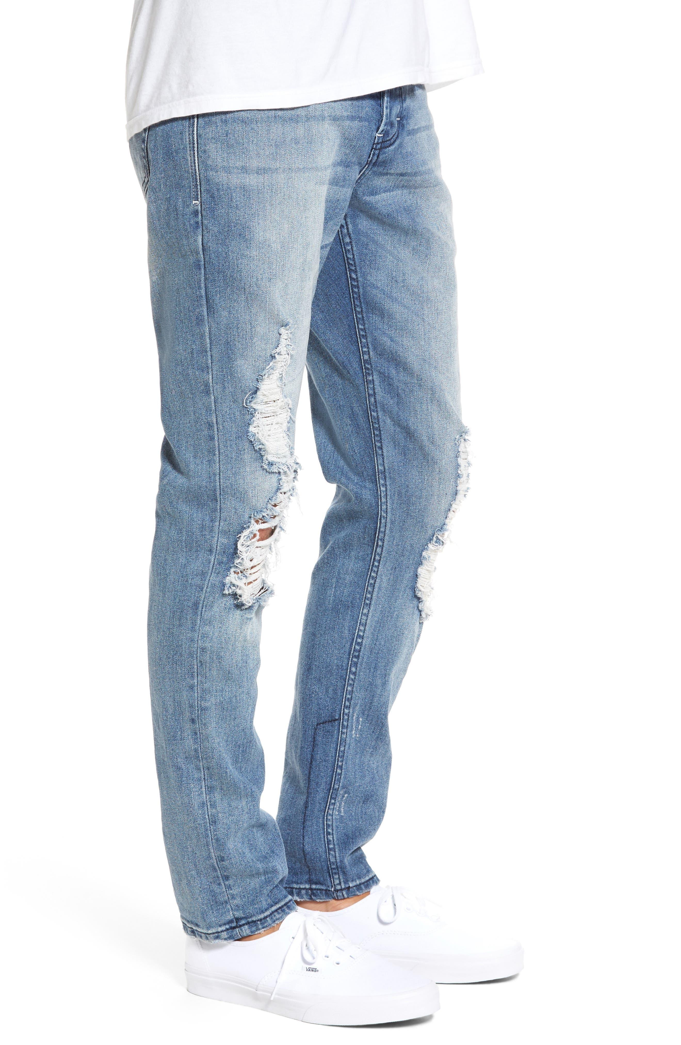 B.Line Slim Fit Jeans,                             Alternate thumbnail 3, color,                             Blow Out Stonewash