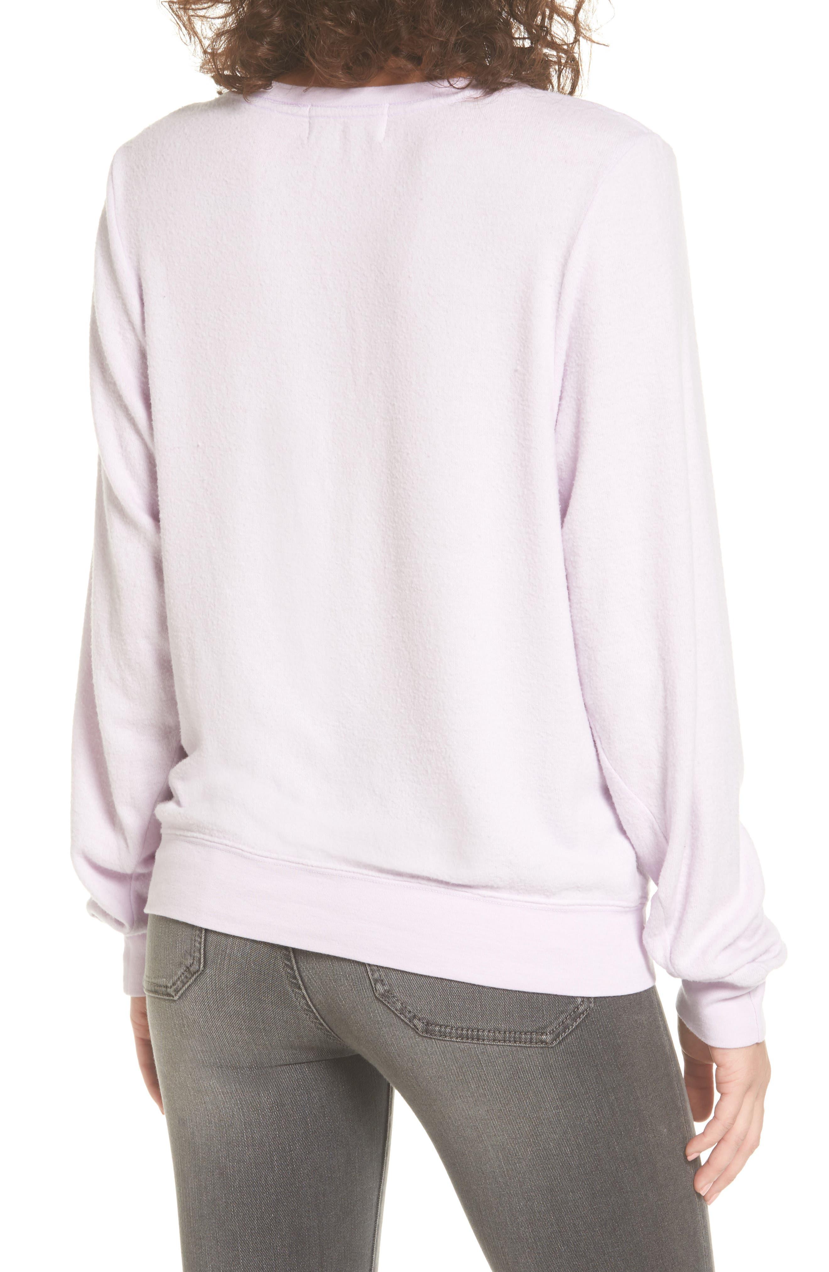 Girl Sweatshirt,                             Alternate thumbnail 2, color,                             Purple