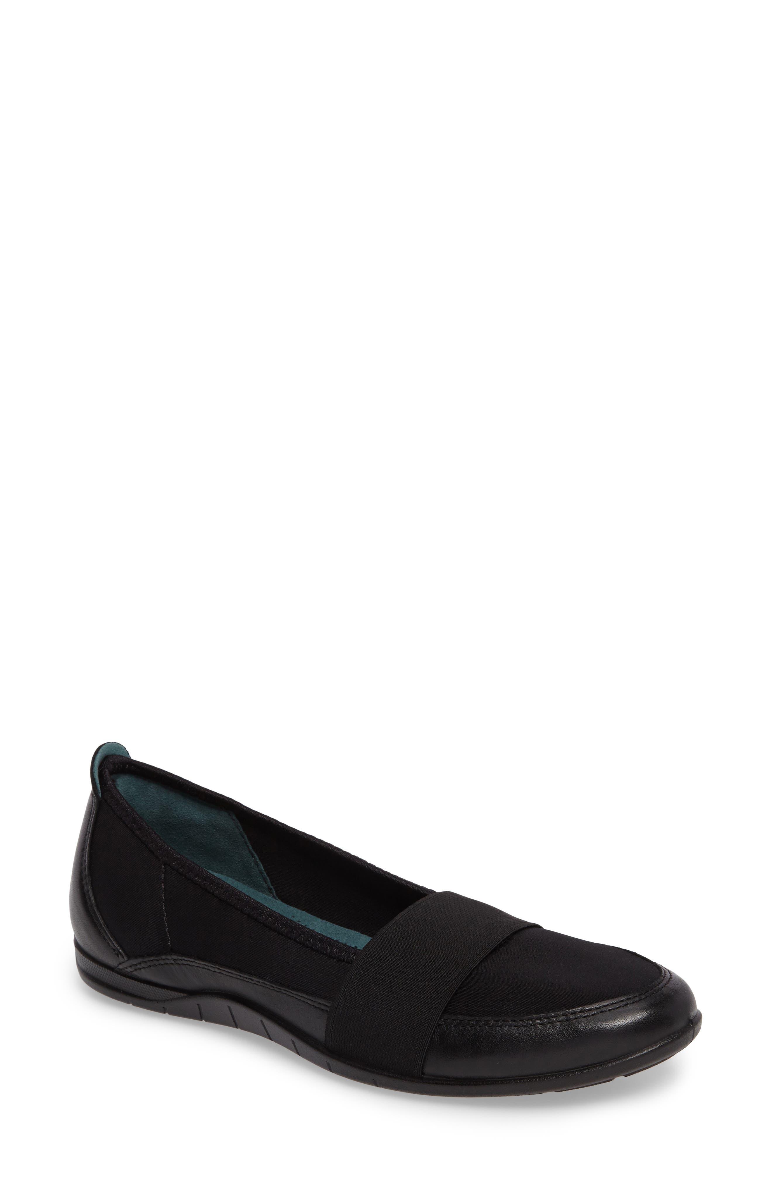 'Bluma' Slip-On Sneaker,                             Main thumbnail 1, color,                             Black Leather