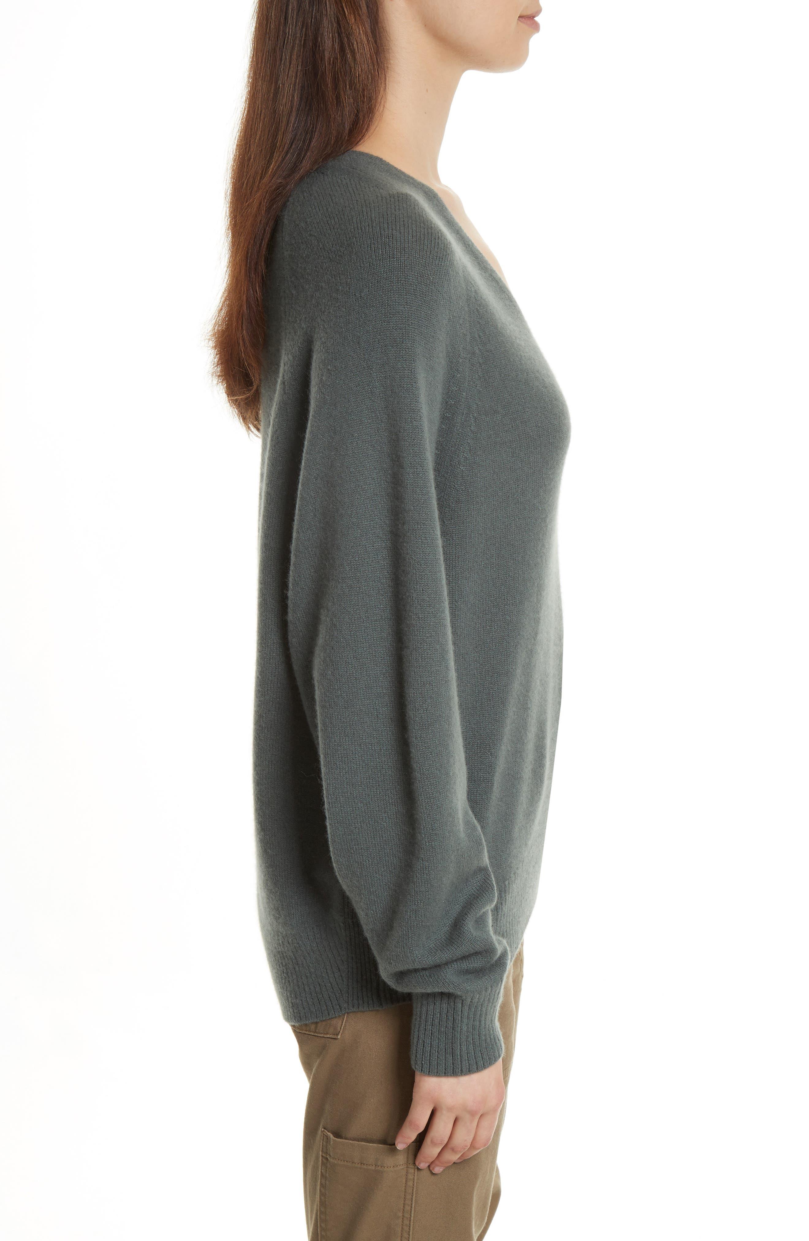 Alternate Image 3  - Vince Deep V-Neck Cashmere Sweater