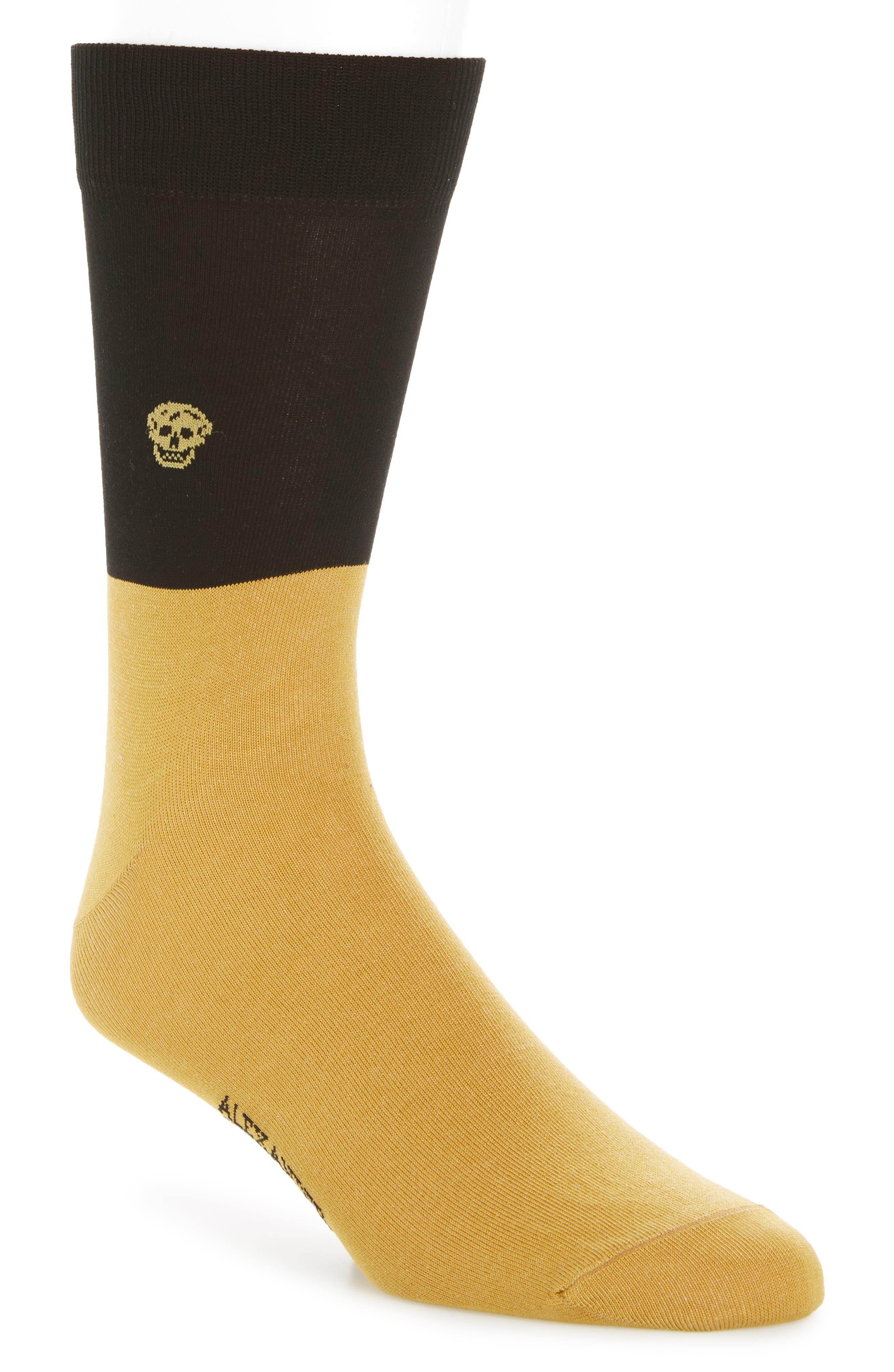 Alexander McQueen Skull Colorblock Socks