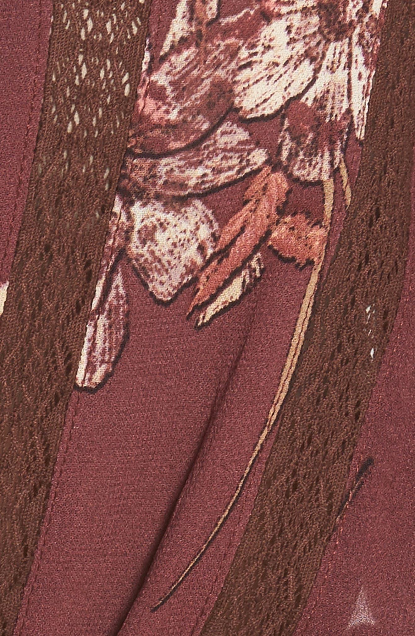 Rosalie Top,                             Alternate thumbnail 7, color,                             Wine Multi Floral