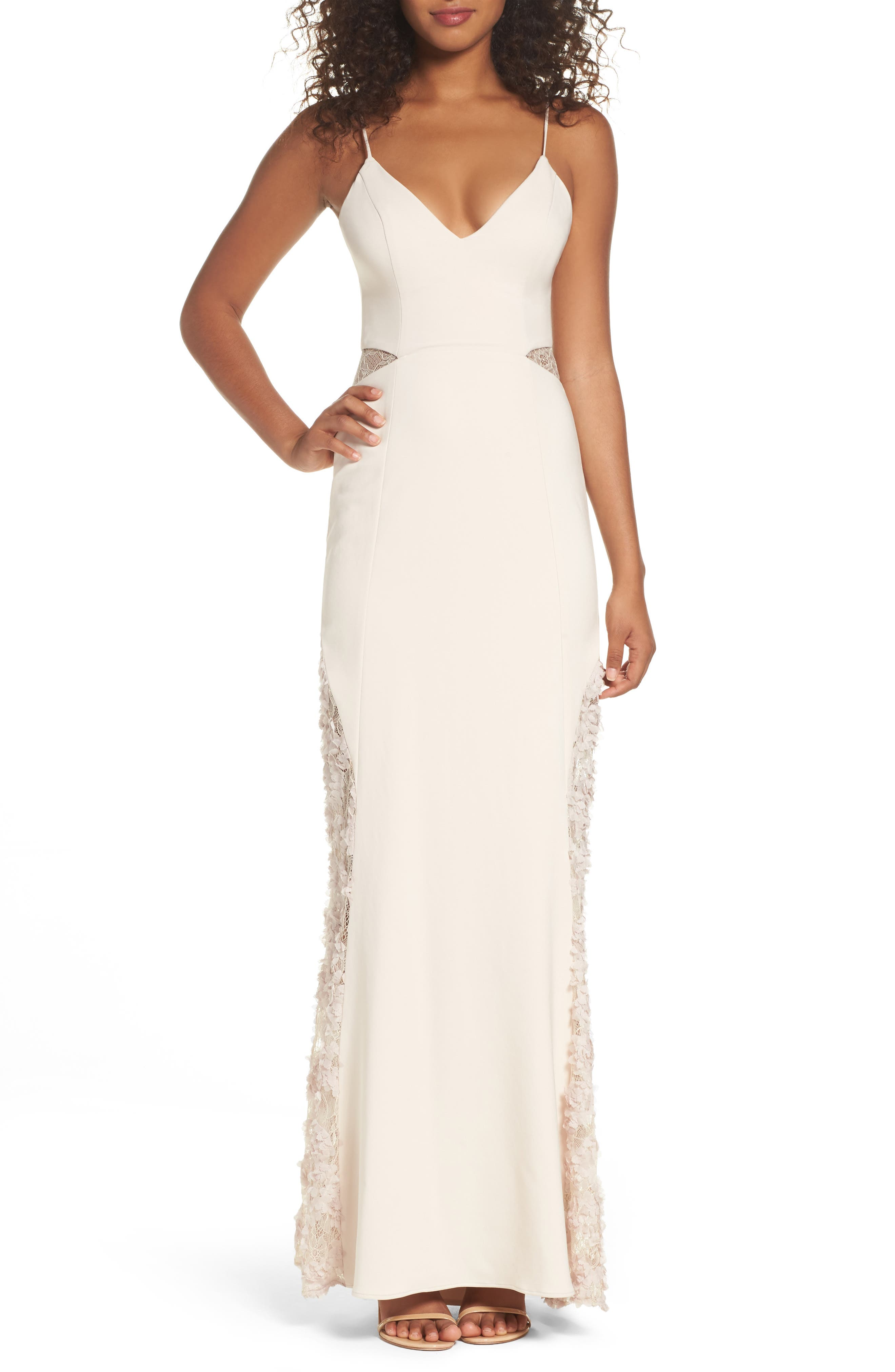 Maria Bianca Nero Shannon Lace Inset Gown