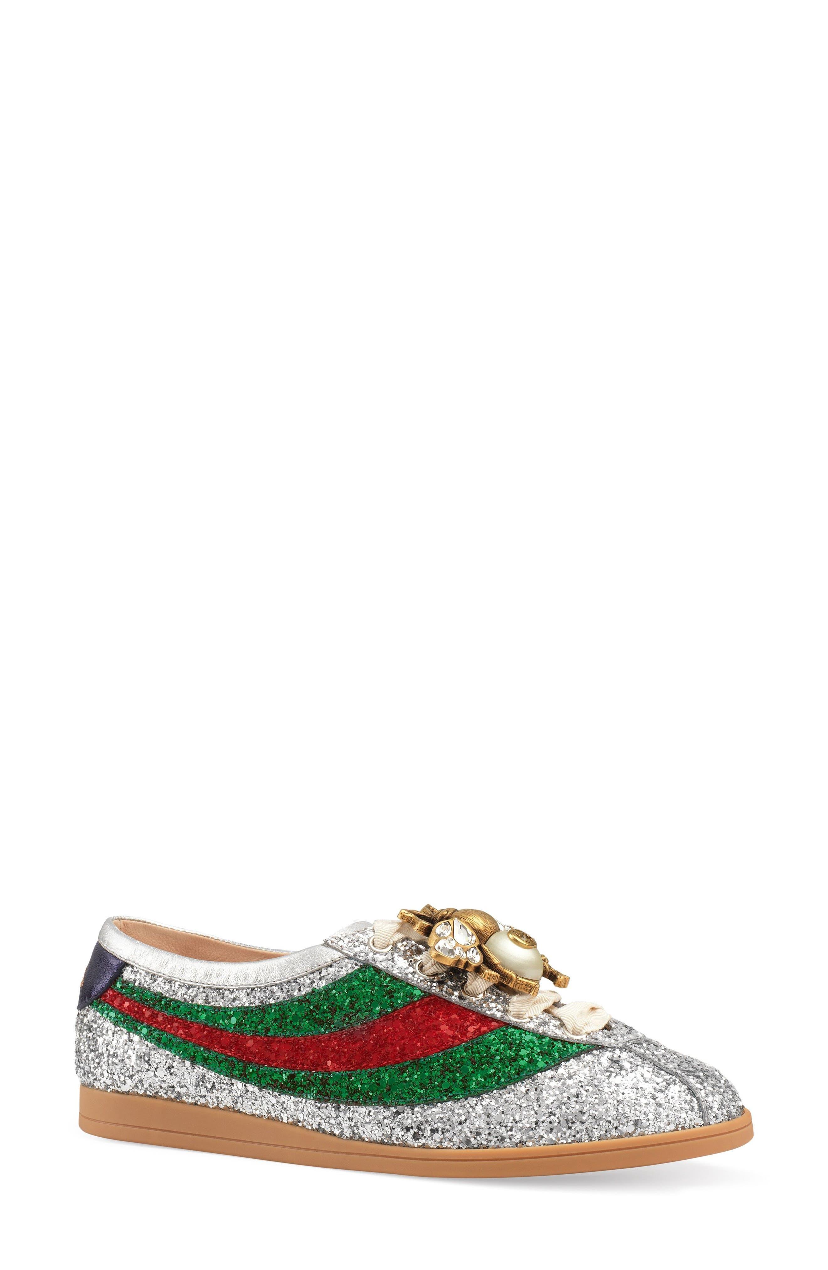 Alternate Image 1 Selected - Gucci Falacer Glitter Sneaker (Women)