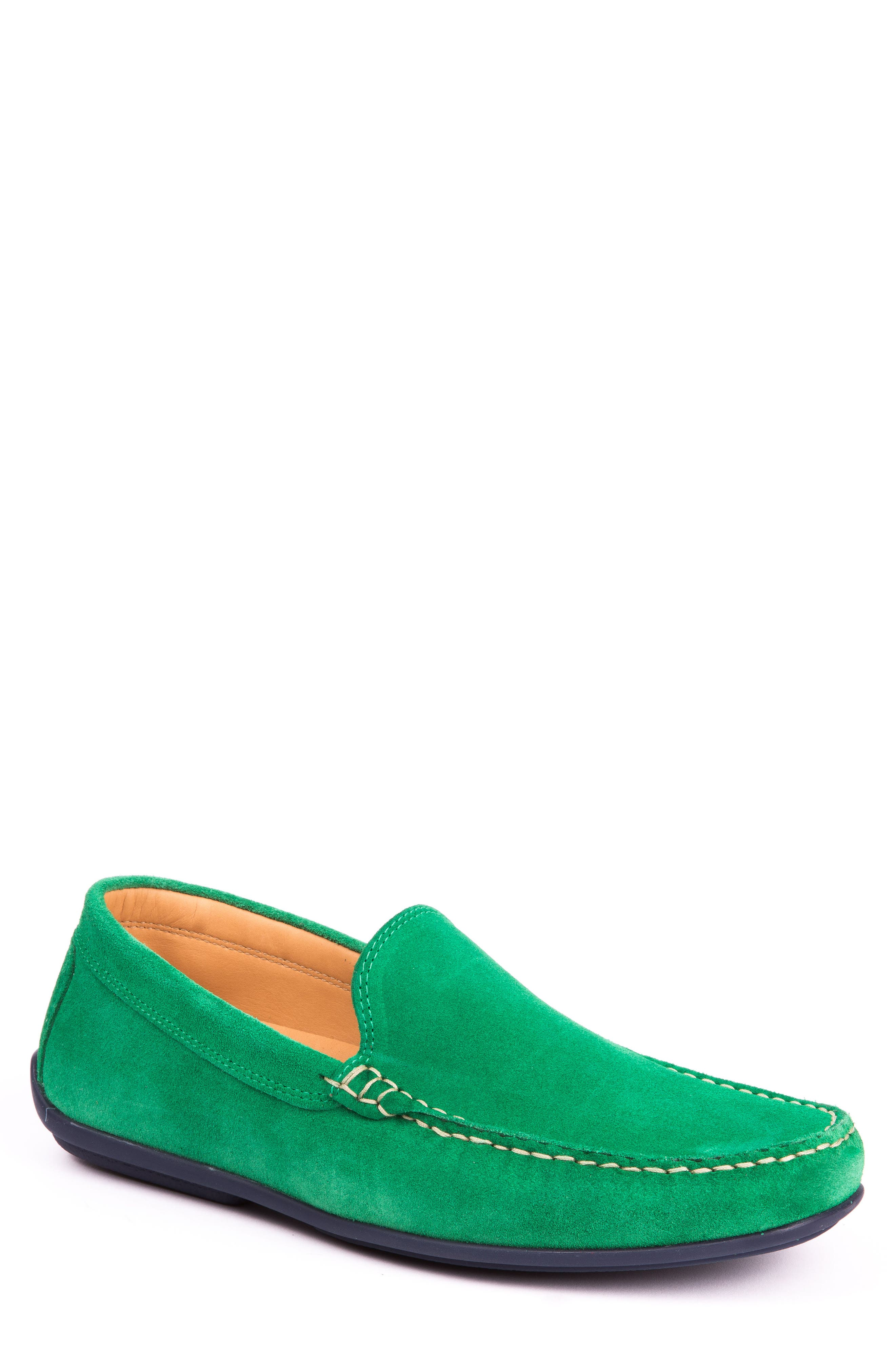 Fairways Driving Shoe,                         Main,                         color, Green Suede