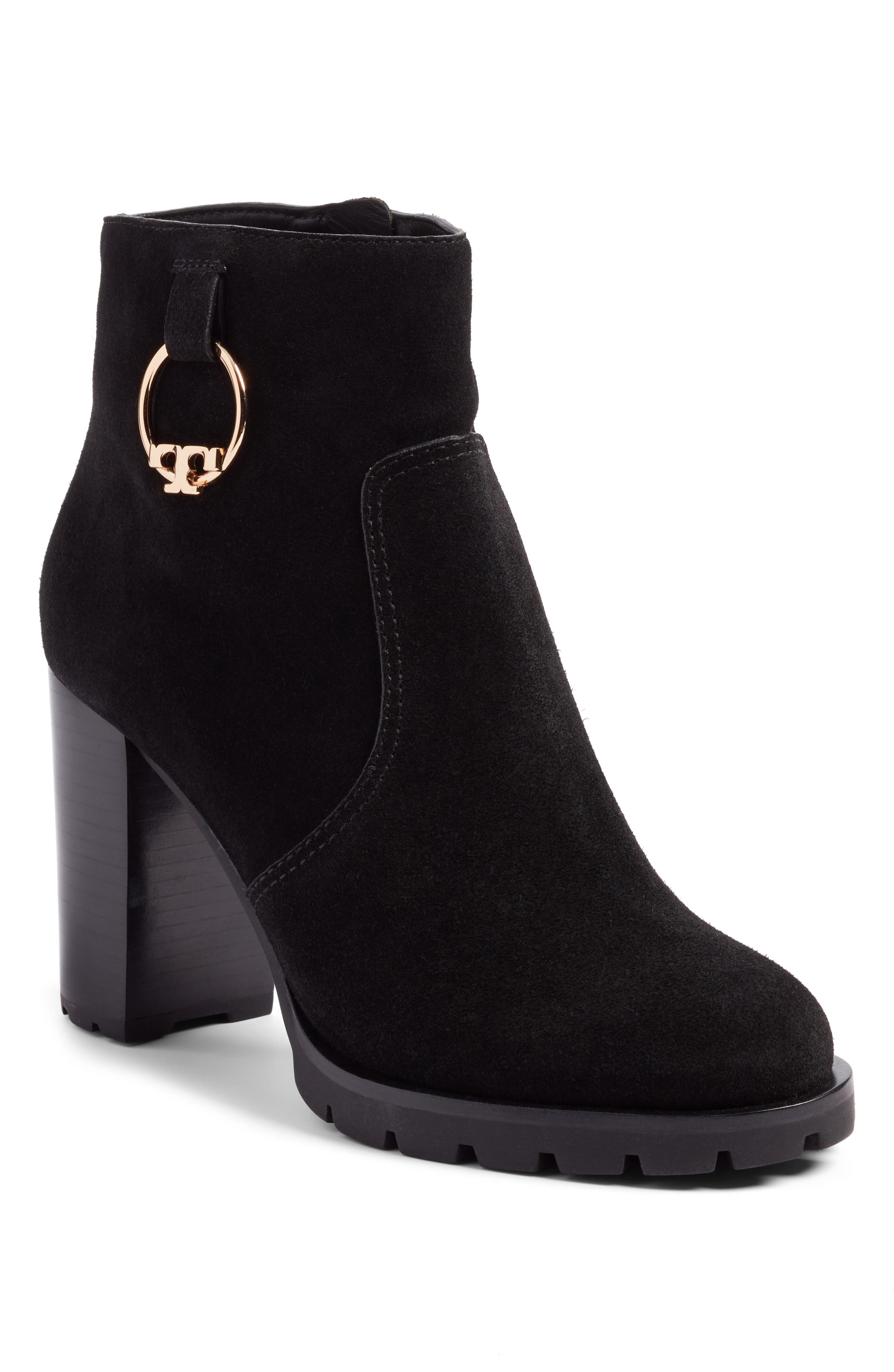 Tory Burch Sofia Lugged Logo Charm Bootie (Women)