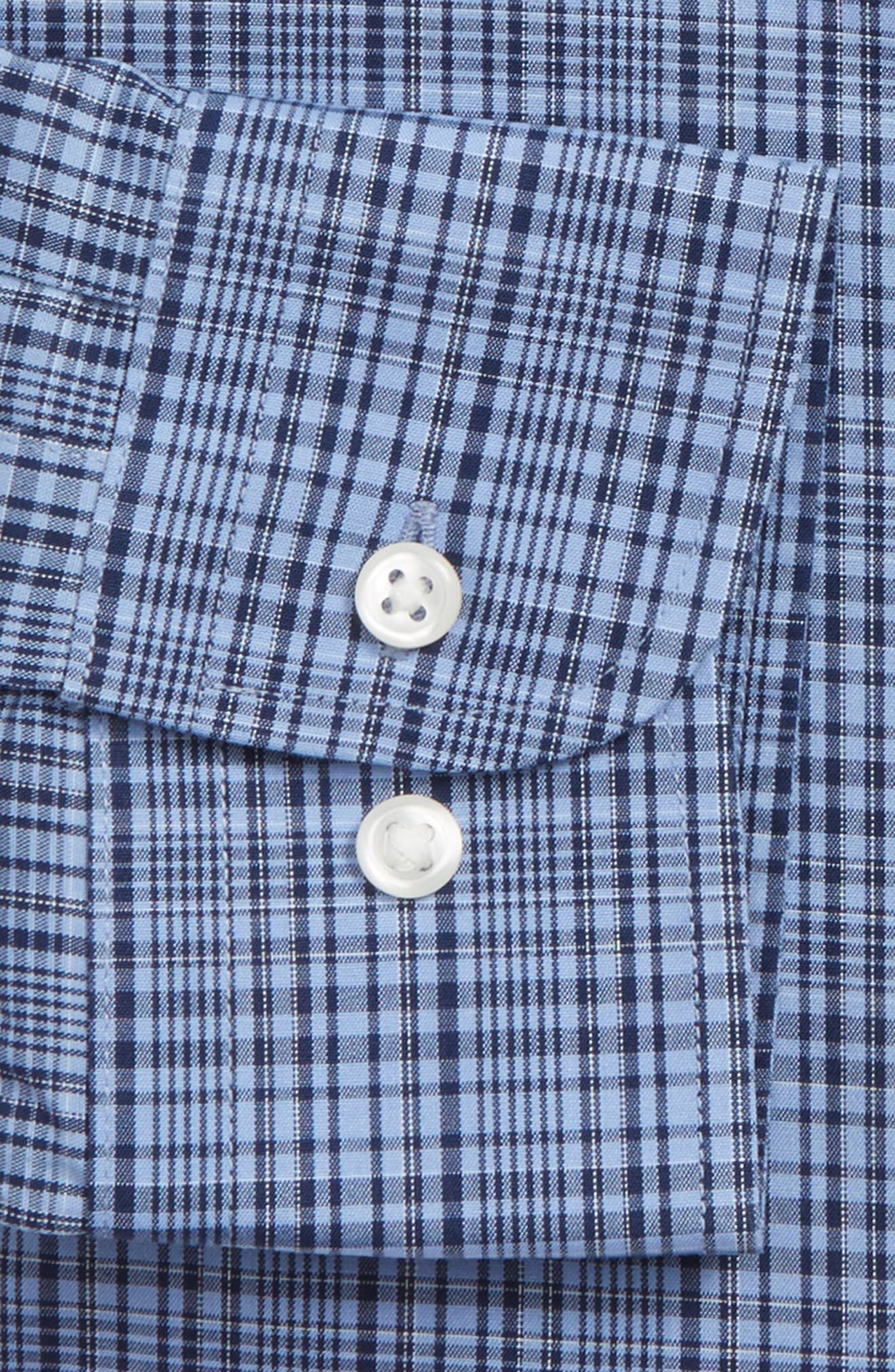Alternate Image 4  - Nordstrom Men's Shop Smartcare™ Extra Trim Fit Check Dress Shirt