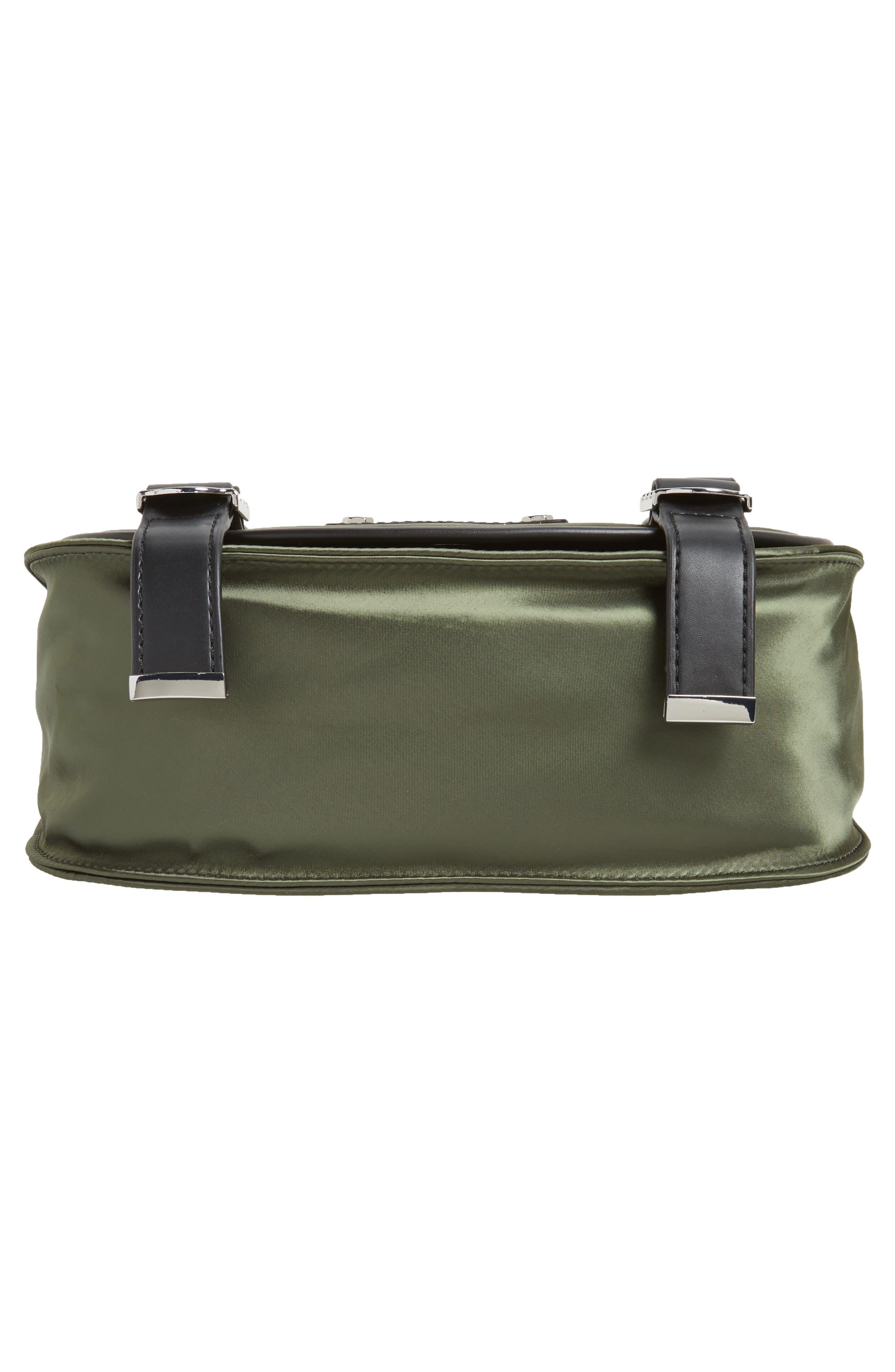Alternate Image 6  - Rebecca Minkoff Military Satin Nylon Saddle Bag