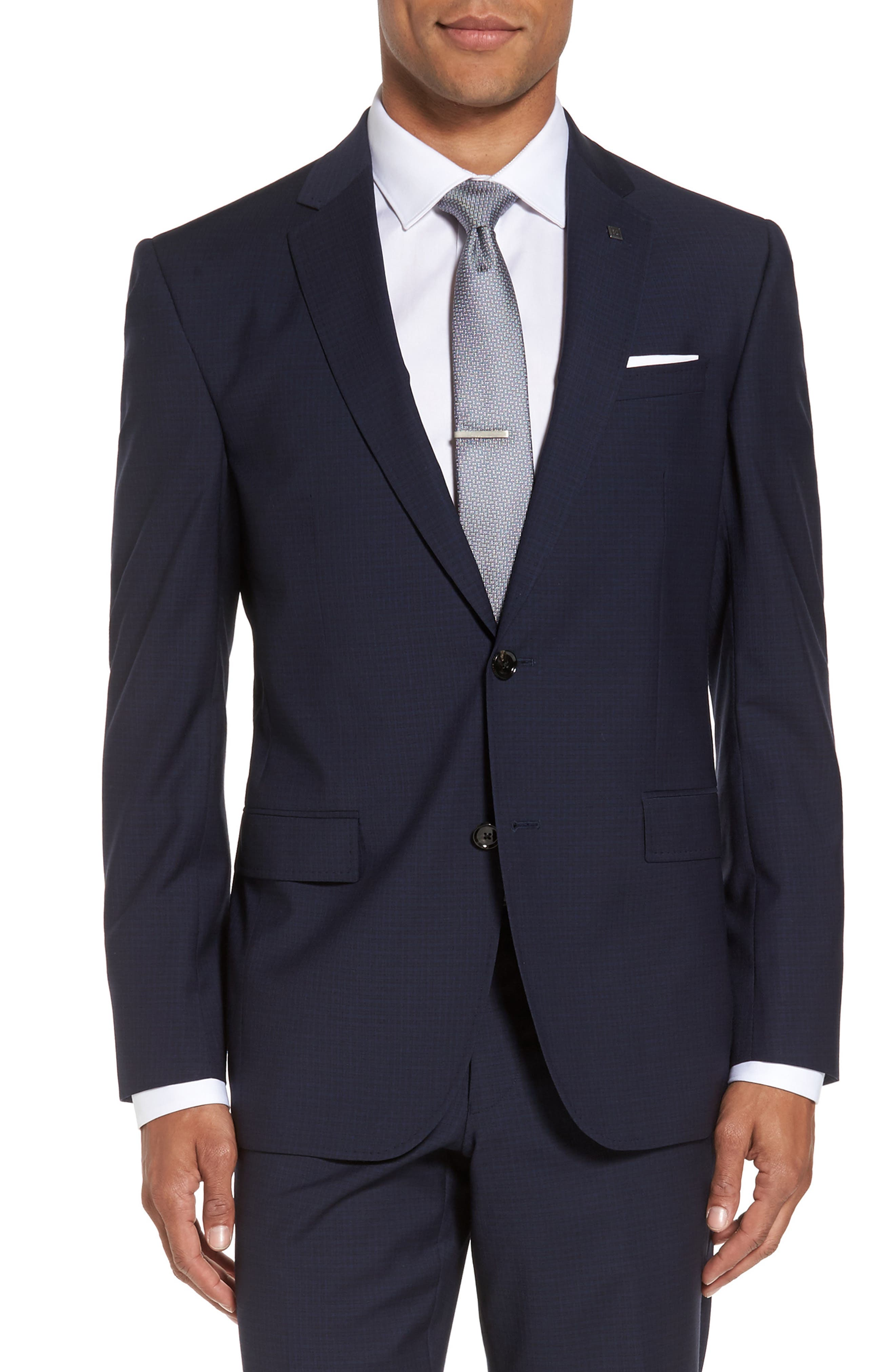 Alternate Image 5  - Ted Baker London Jay Trim Fit Check Wool Suit