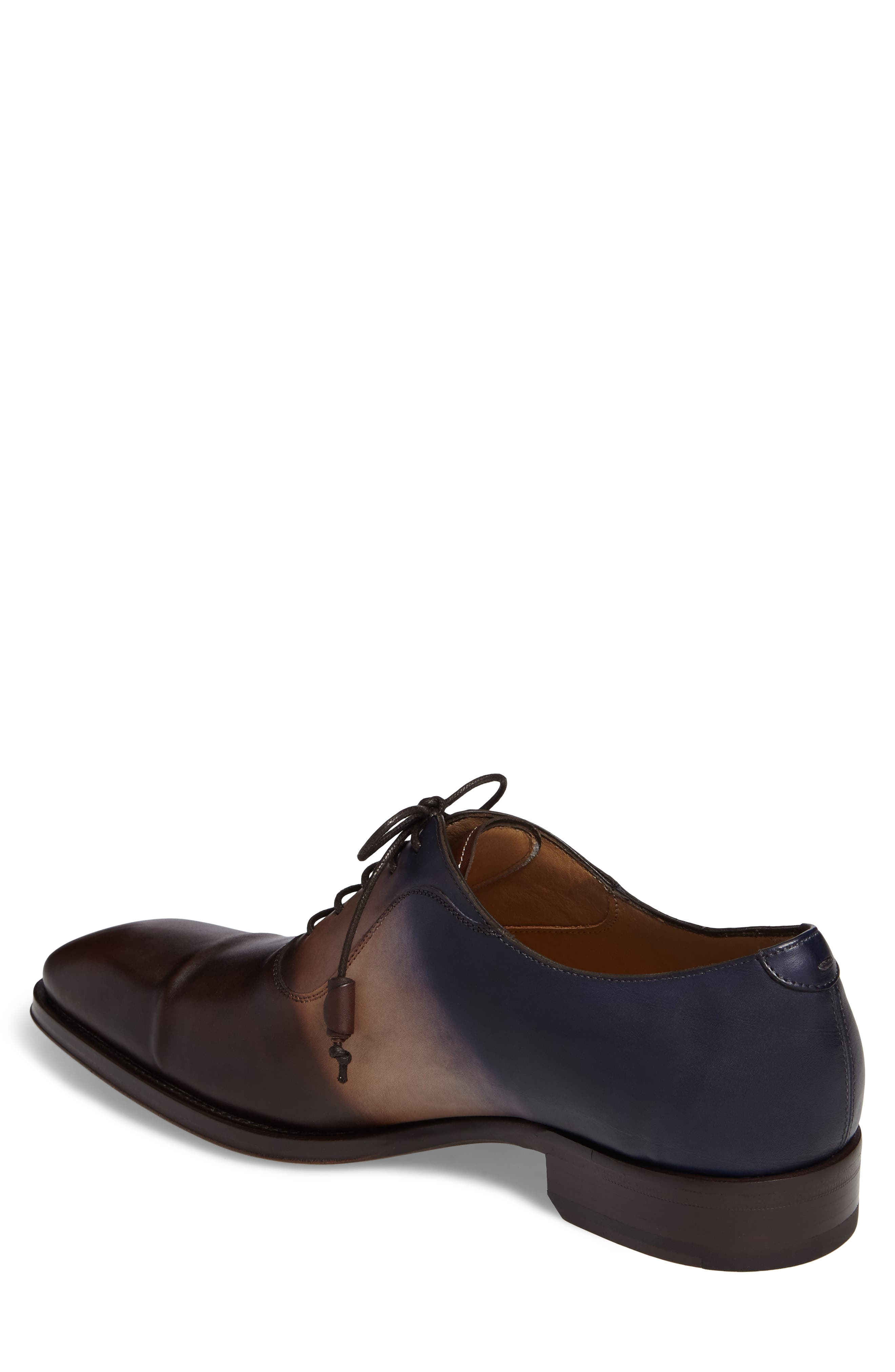 Millet Cap Toe Oxford,                             Alternate thumbnail 2, color,                             Brown Multi Leather