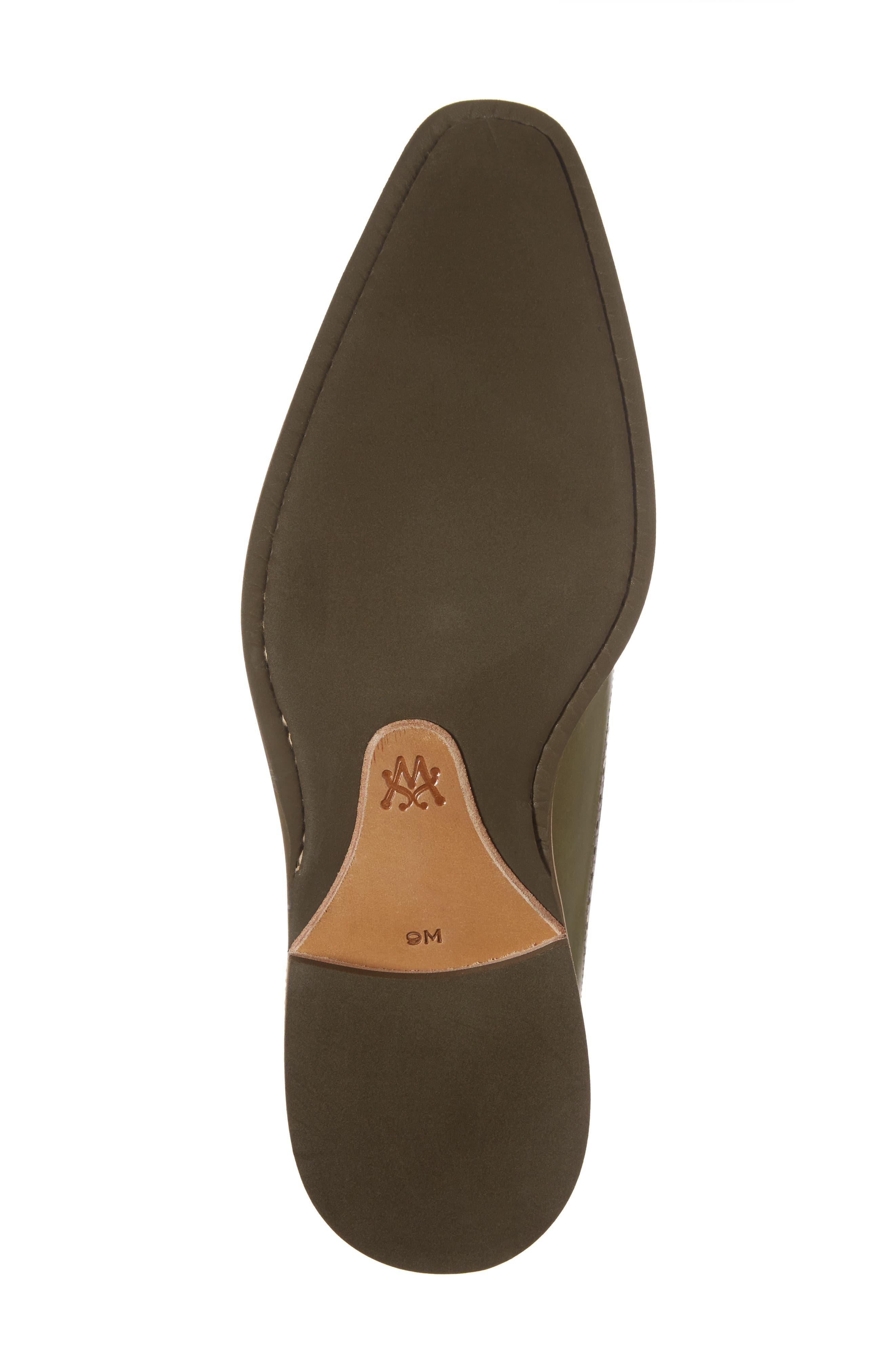 Maraval Wingtip,                             Alternate thumbnail 6, color,                             Olive Leather