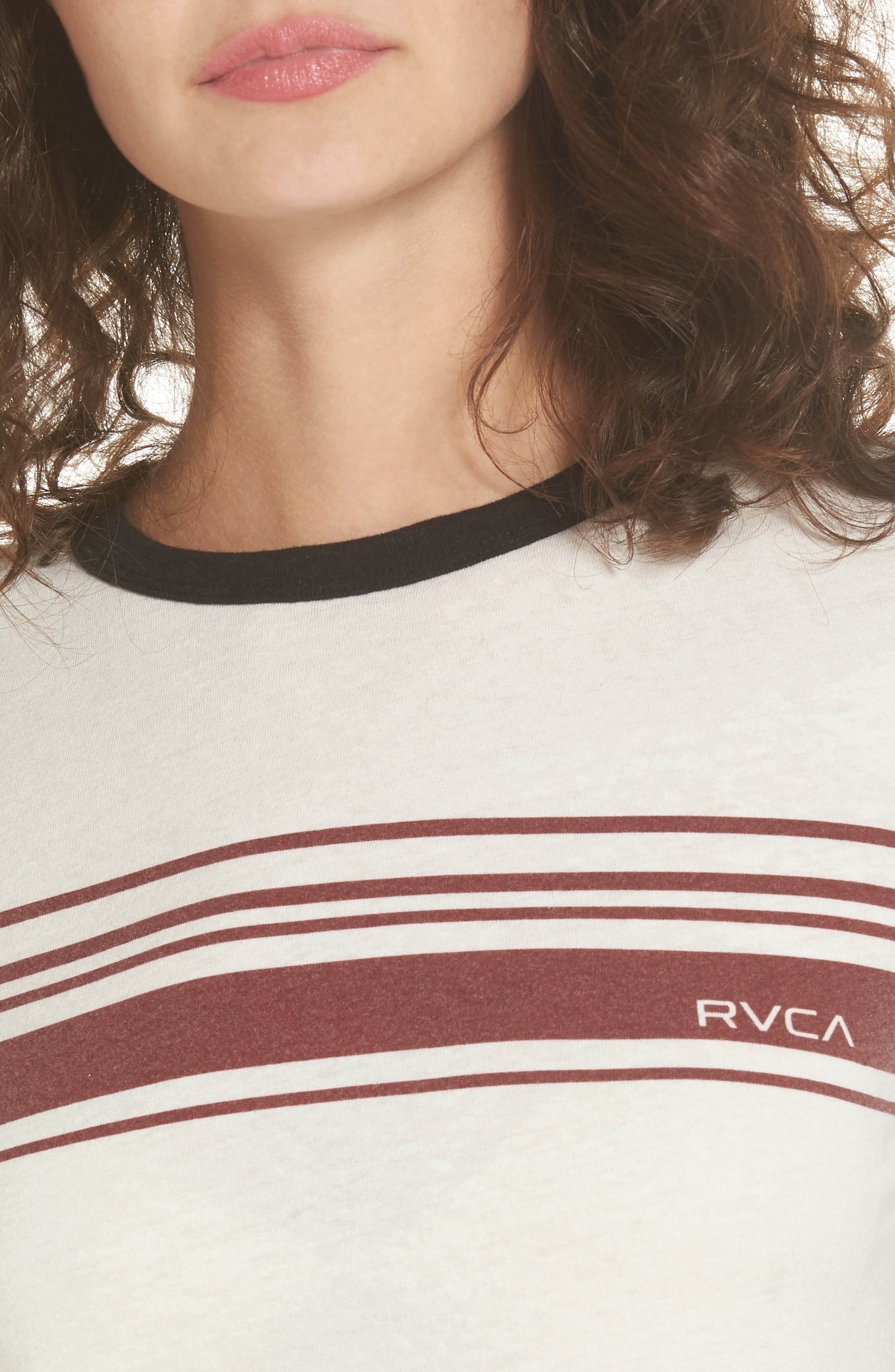 Alternate Image 4  - RVCA Stripe Ringer Tee