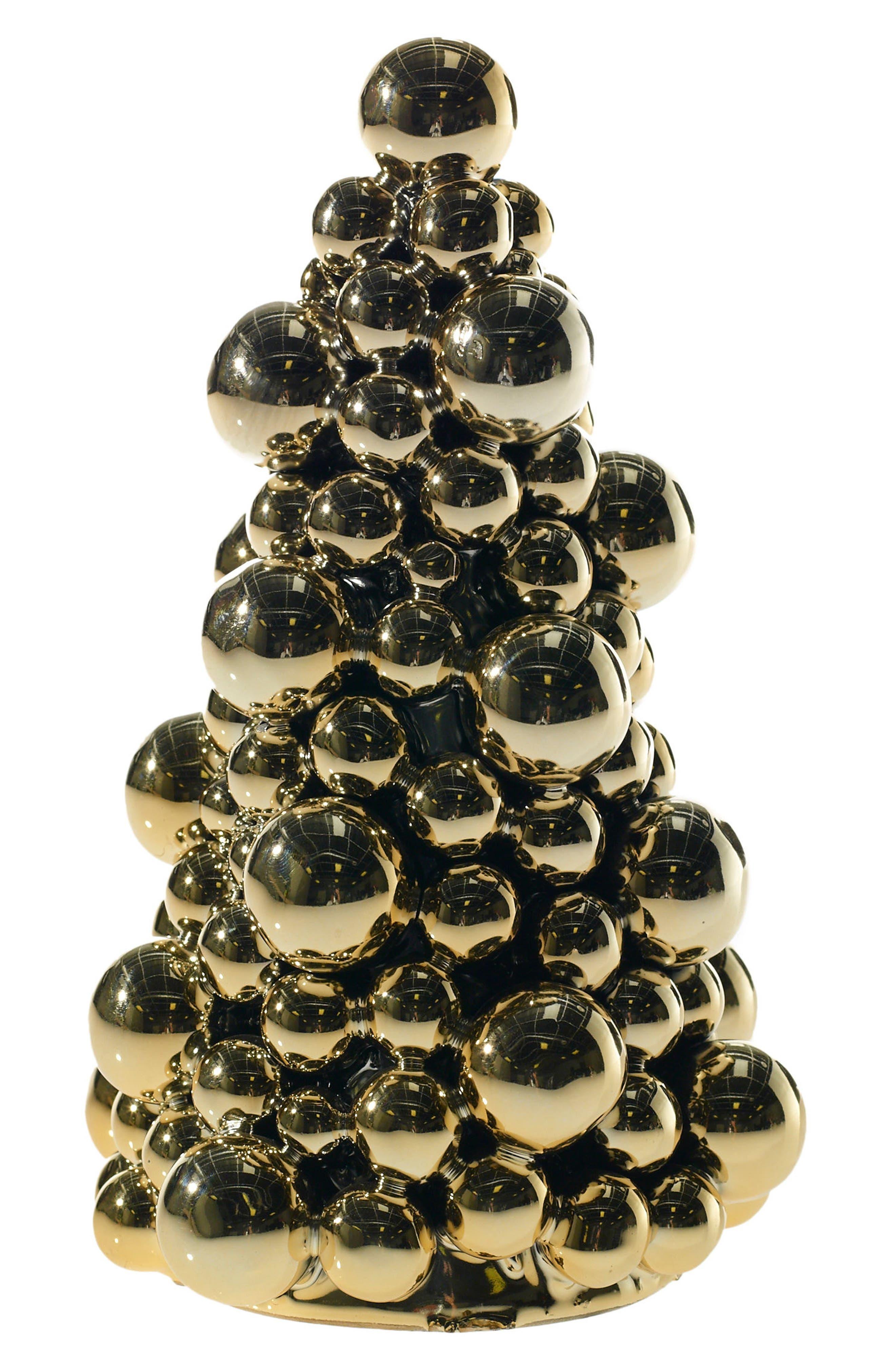 Bauble Ceramic Tree,                         Main,                         color, Gold