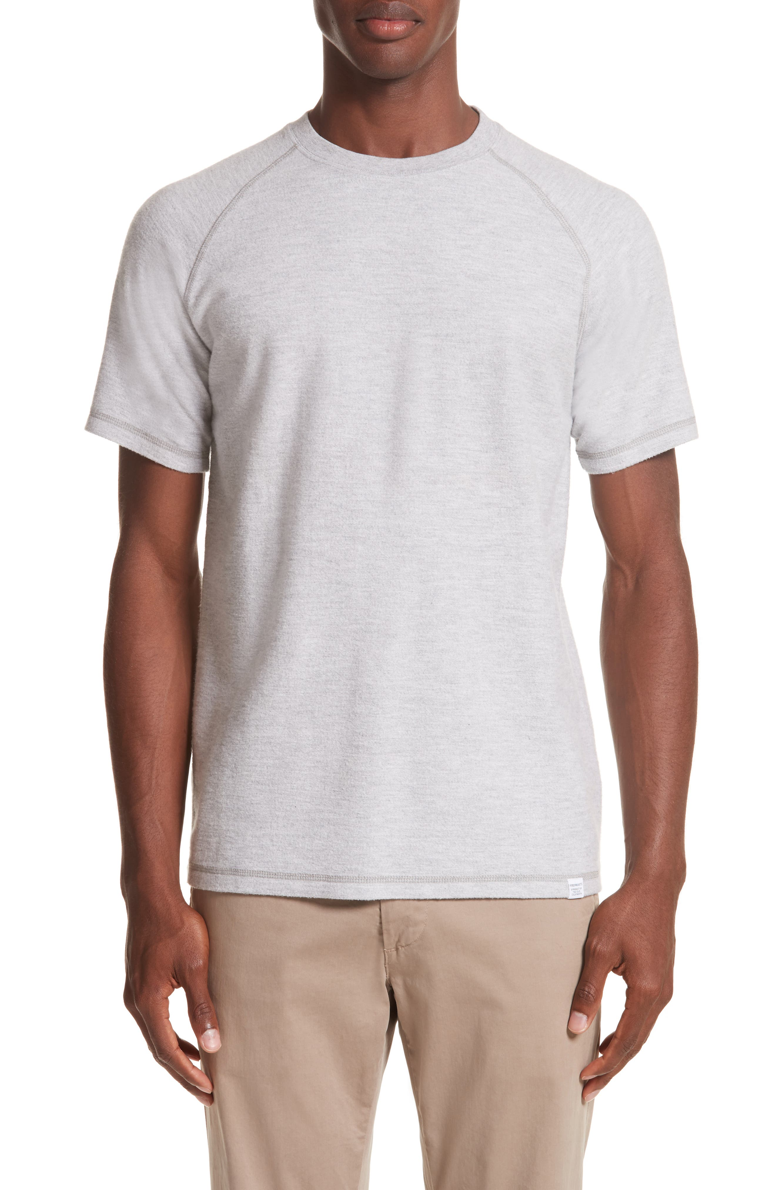 Victor Brushed Cotton T-Shirt,                             Main thumbnail 1, color,                             Light Grey