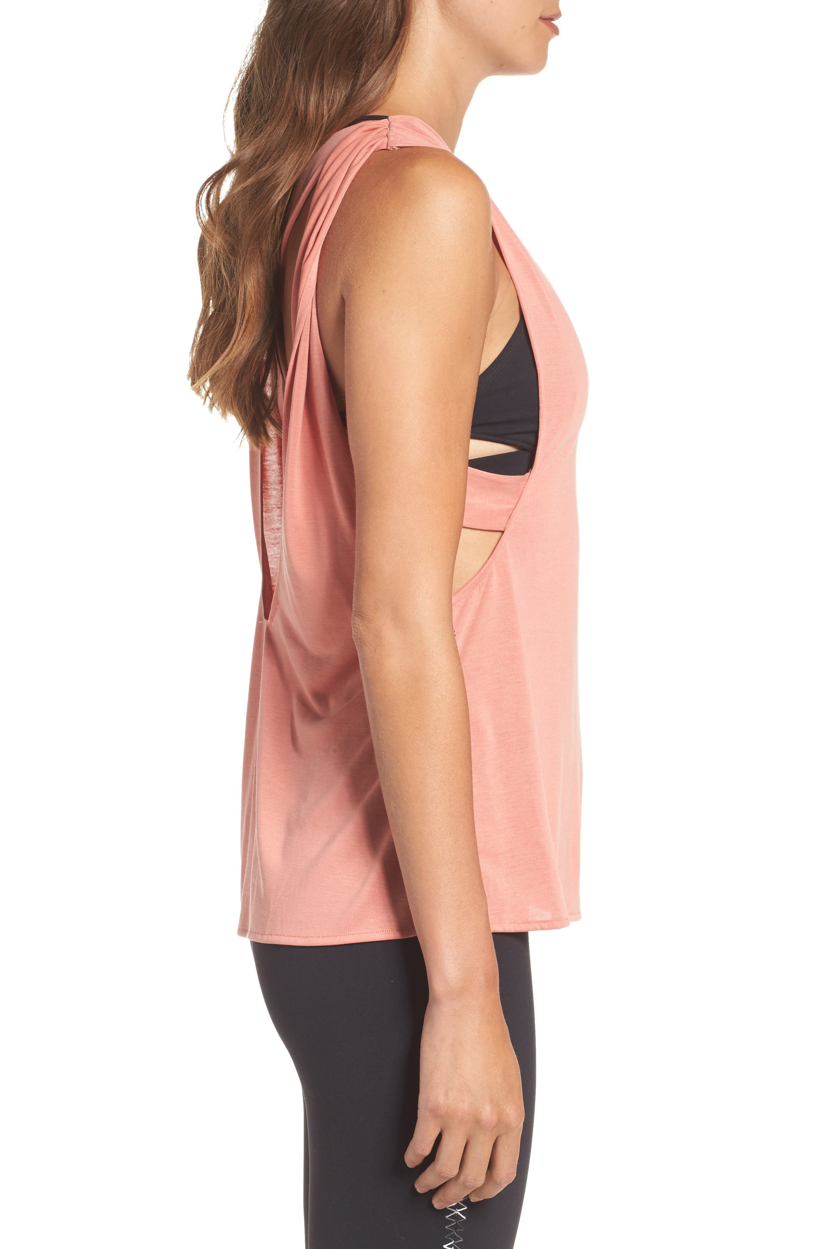 FP Movement Crossback Training Tank,                             Alternate thumbnail 3, color,                             Peach