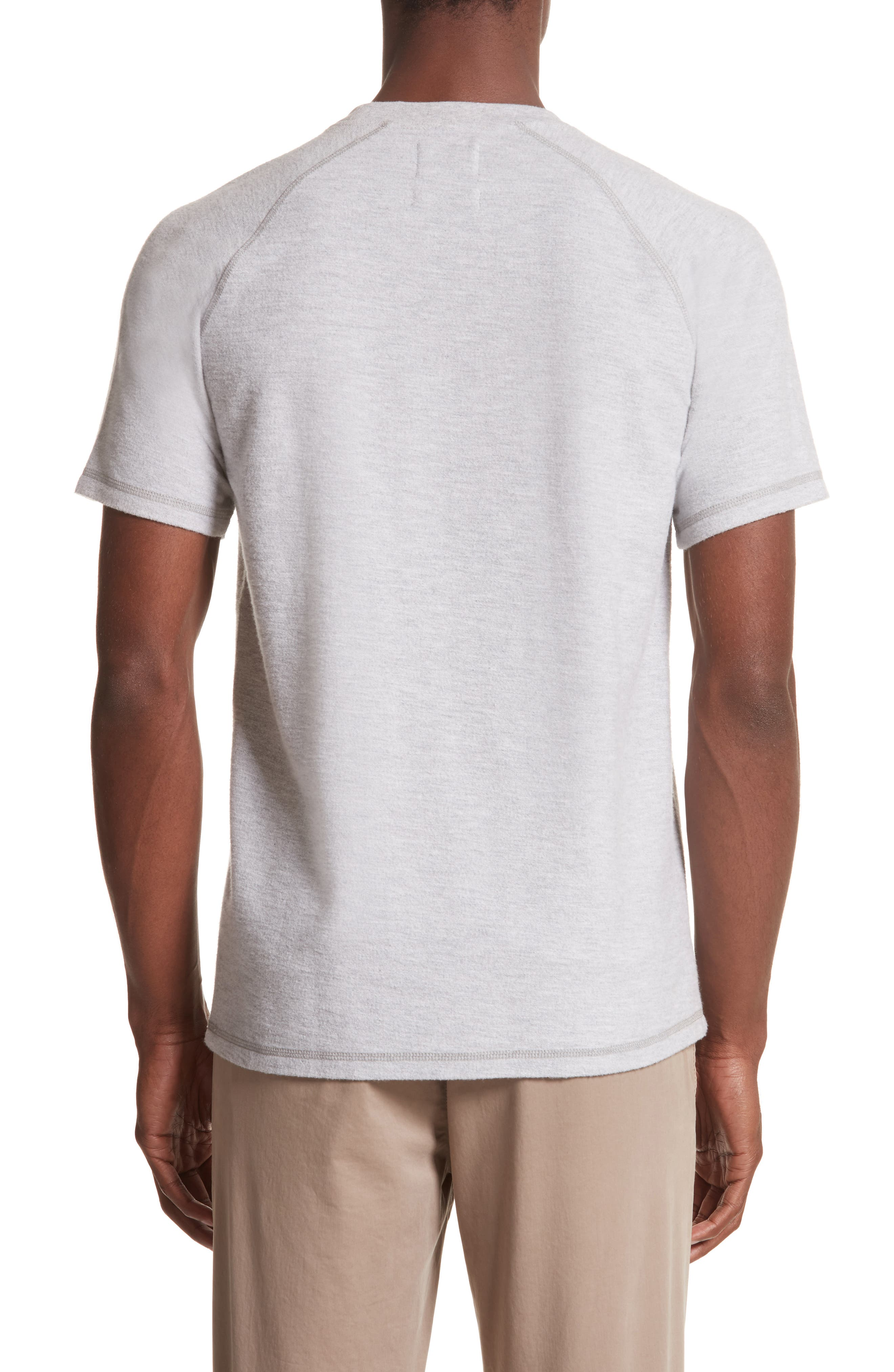 Victor Brushed Cotton T-Shirt,                             Alternate thumbnail 2, color,                             Light Grey