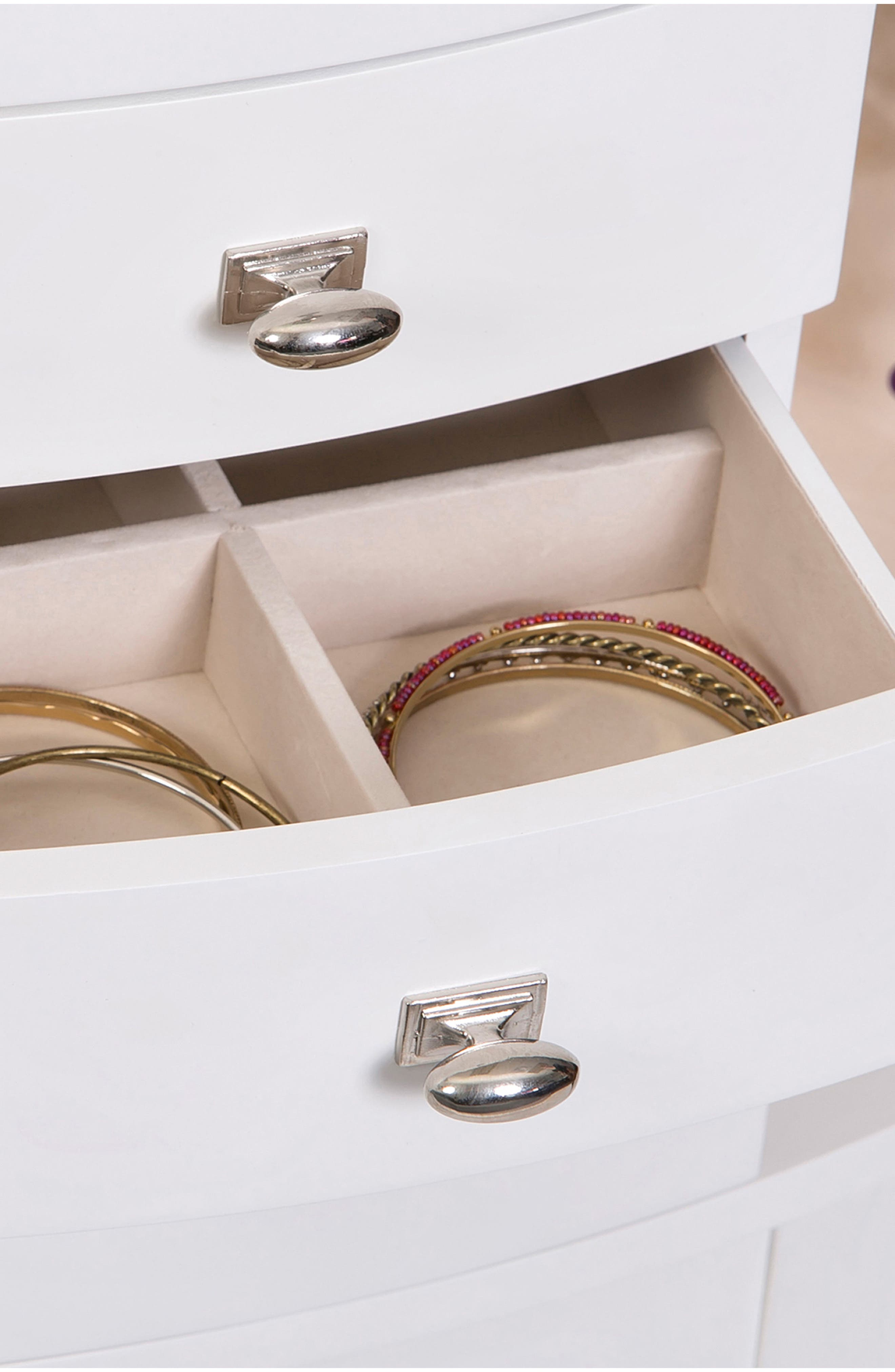 Hadley Jewelry Armoire,                             Alternate thumbnail 6, color,                             White