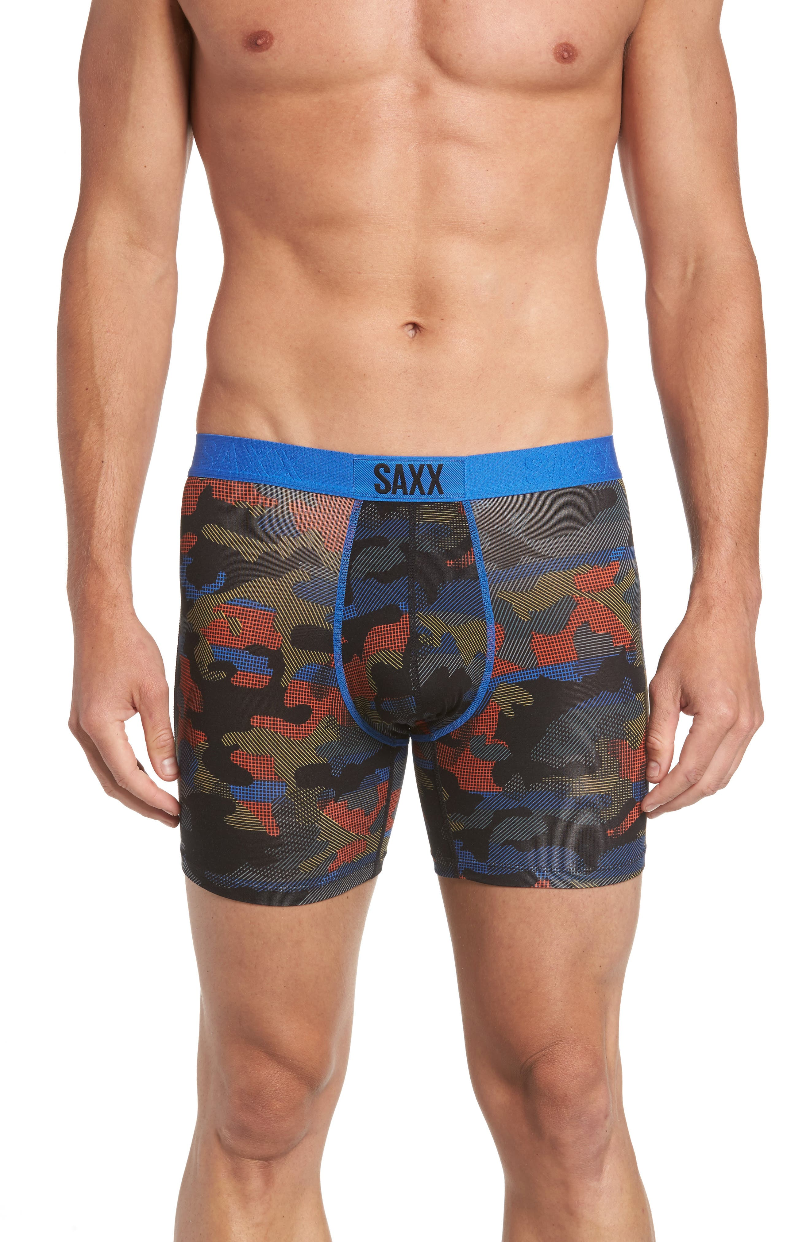 Alternate Image 1 Selected - SAXX Vibe Modern Fit Camo Boxer Briefs