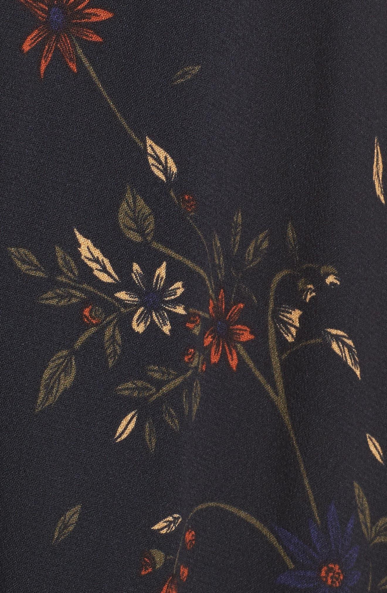 Daphne Wrap Maxi Dress,                             Alternate thumbnail 5, color,                             True Black Multi