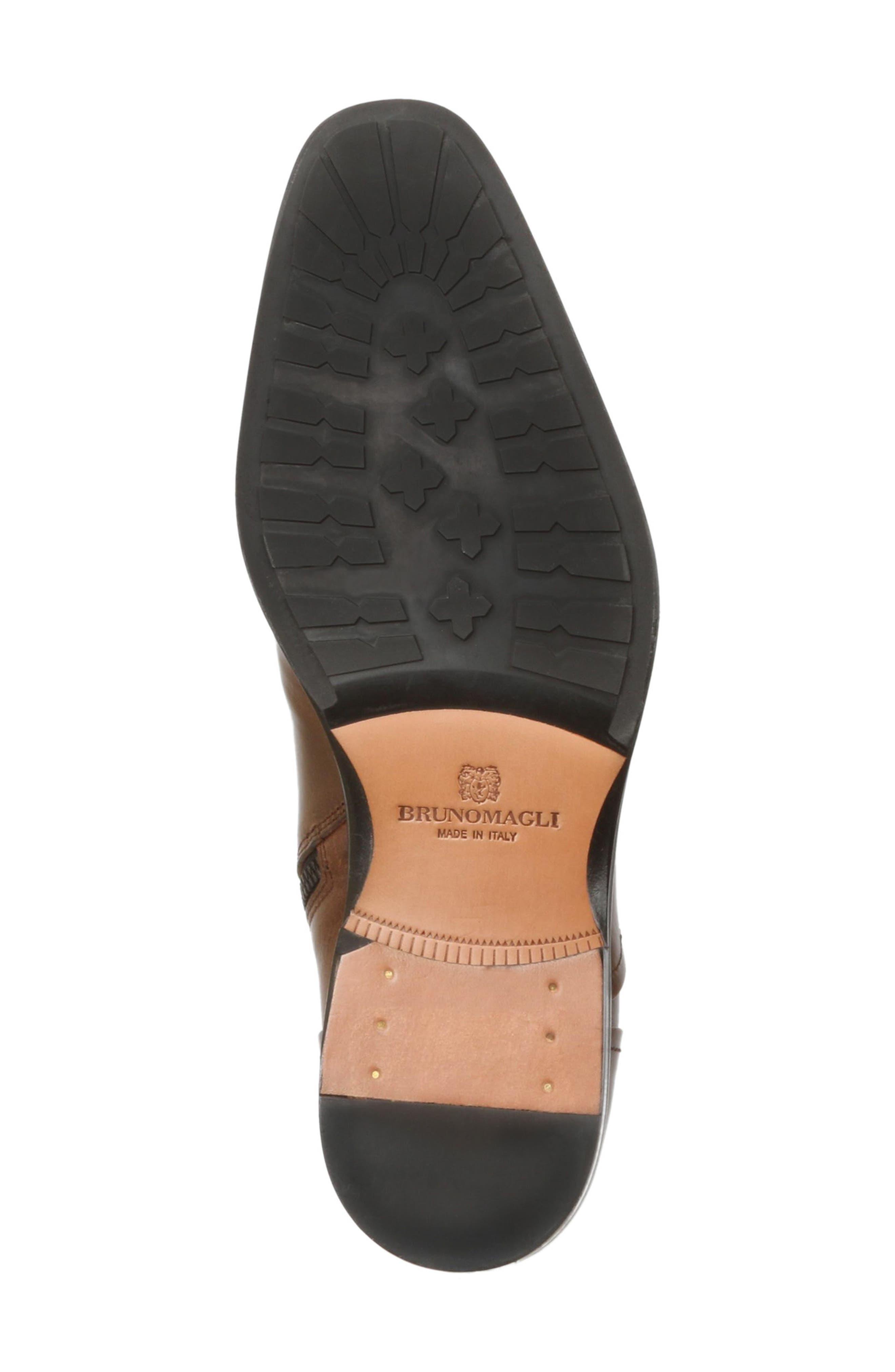 'Arcadia' Cap Toe Boot,                             Alternate thumbnail 6, color,                             Dark Brown Leather