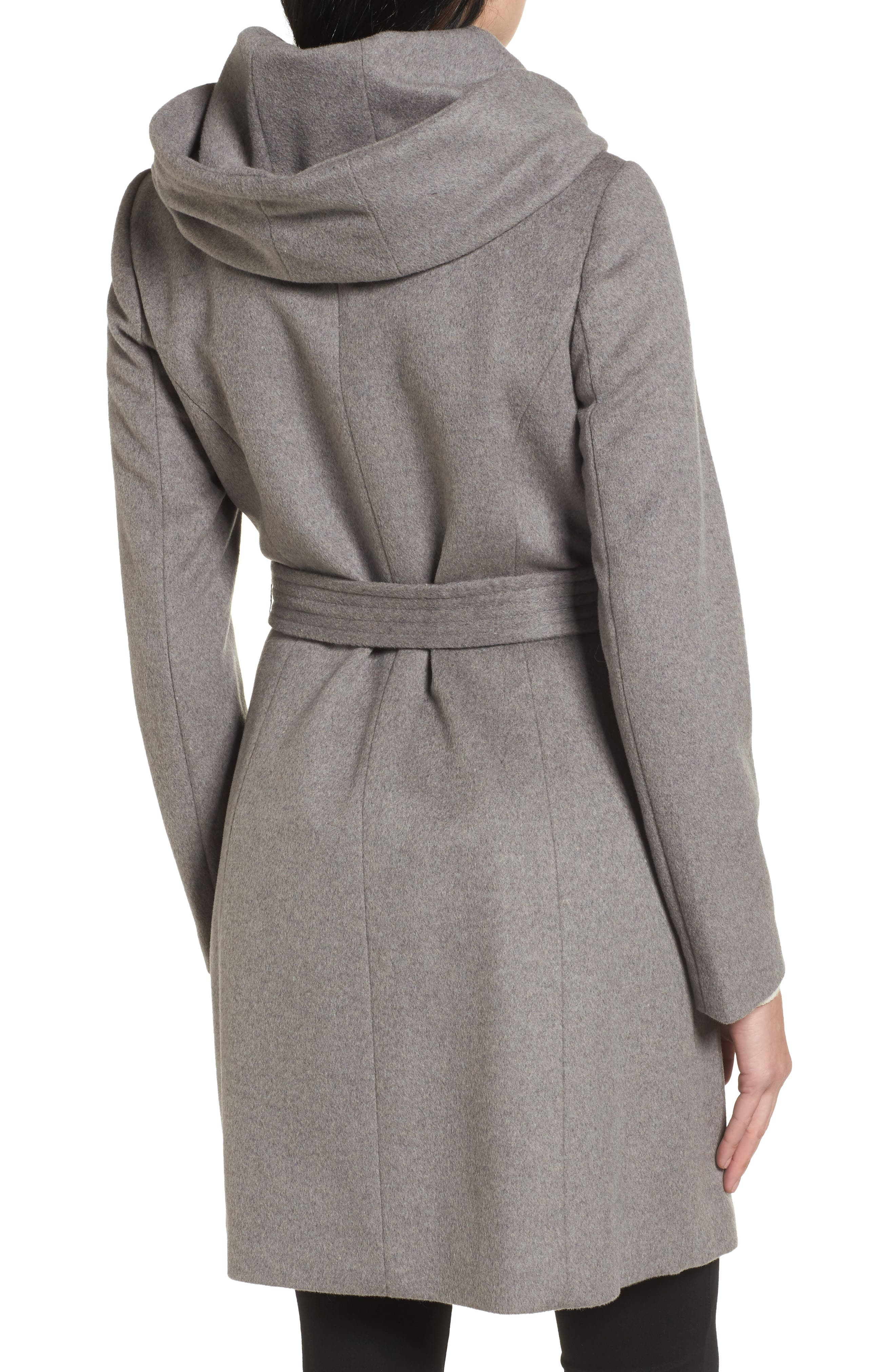 Alternate Image 2  - Cole Haan Belted Asymmetrical Wool Coat