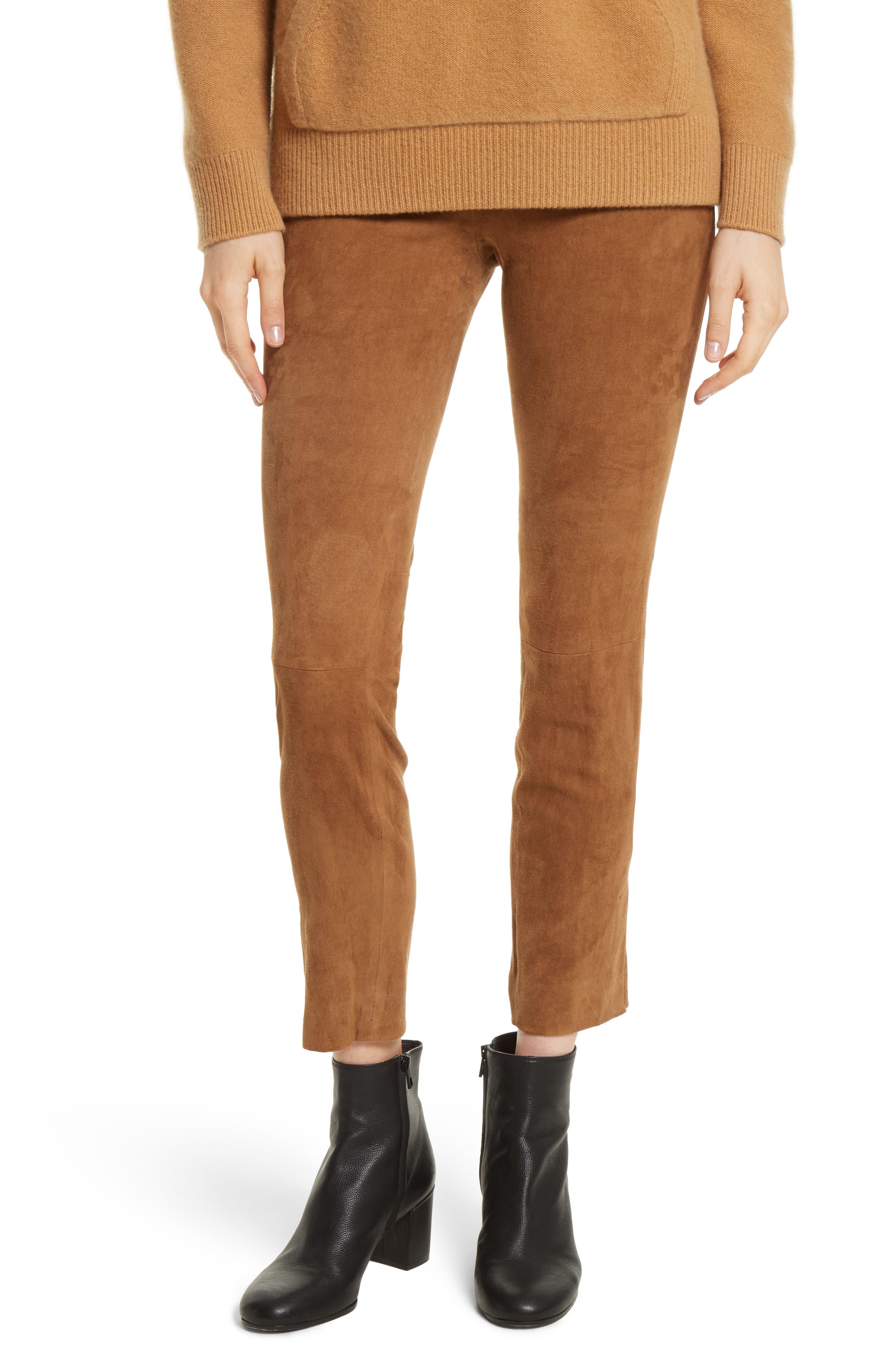 Vince Stretch Suede Crop Pants