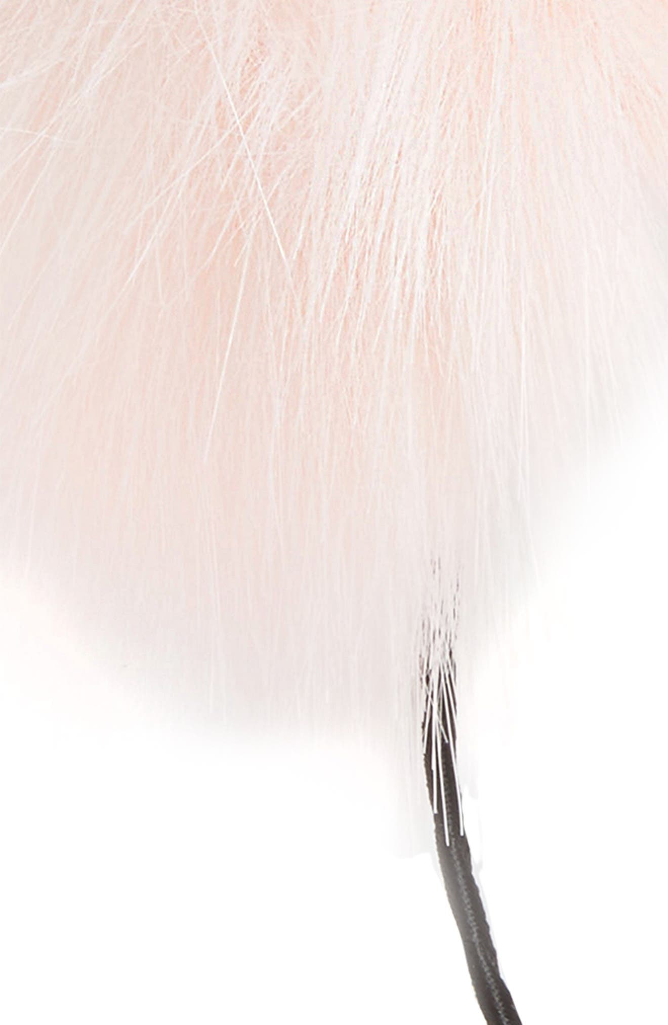 Alternate Image 2  - Cara Faux Fur Pom Headband (Big Girls)