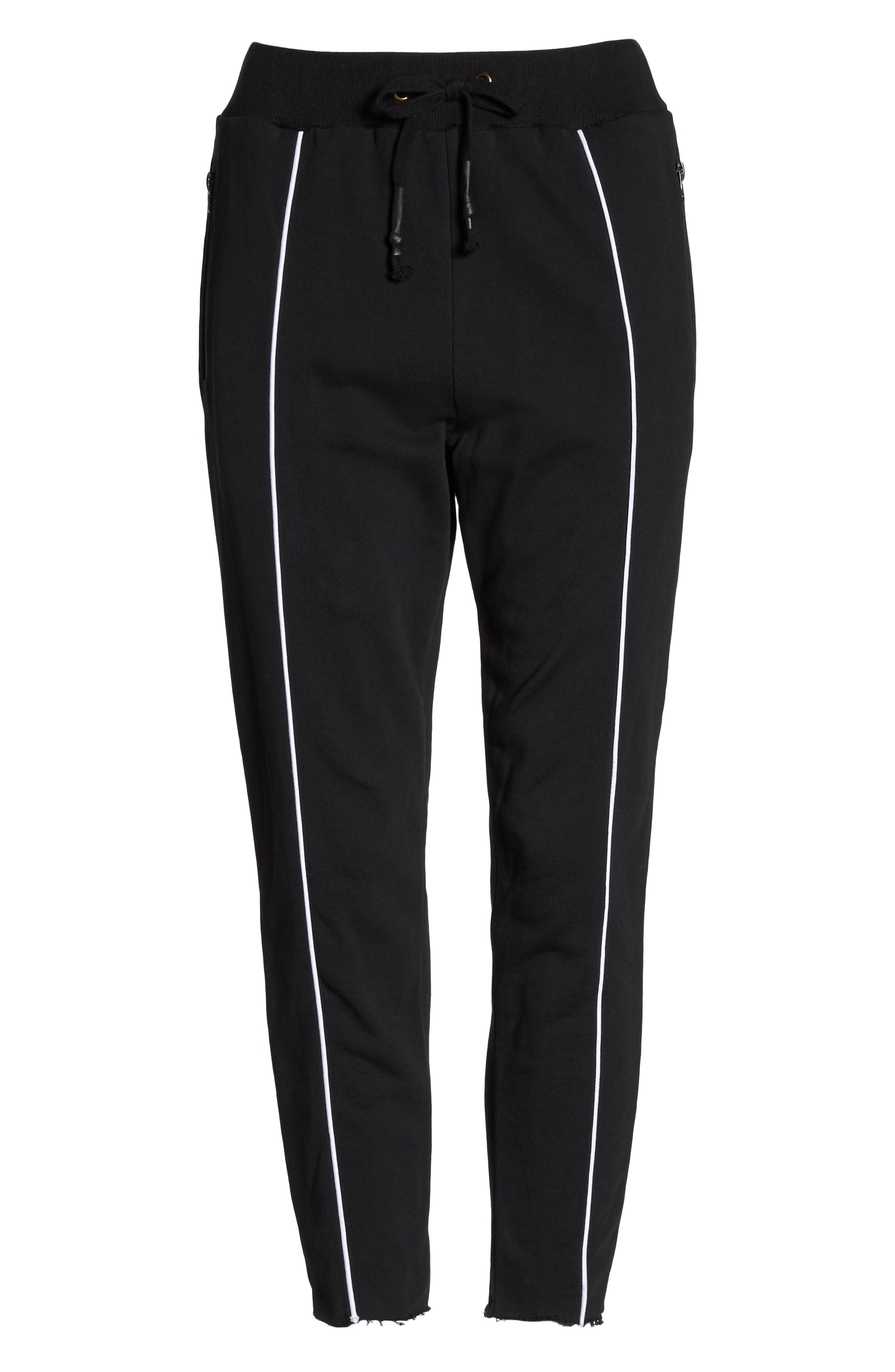 Deuce Track Pants,                             Alternate thumbnail 6, color,                             Black