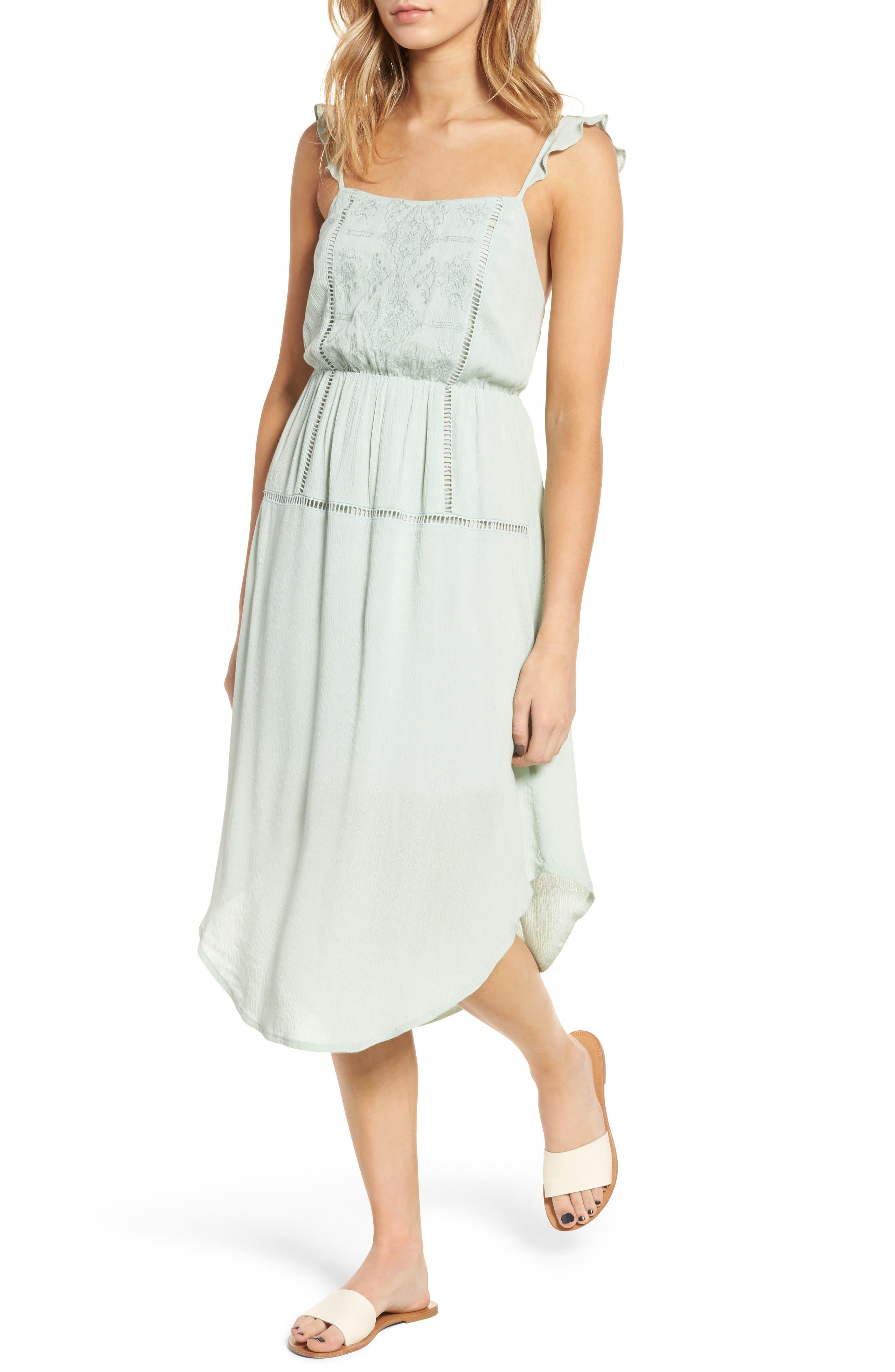 Lush Embroidered Midi Dress