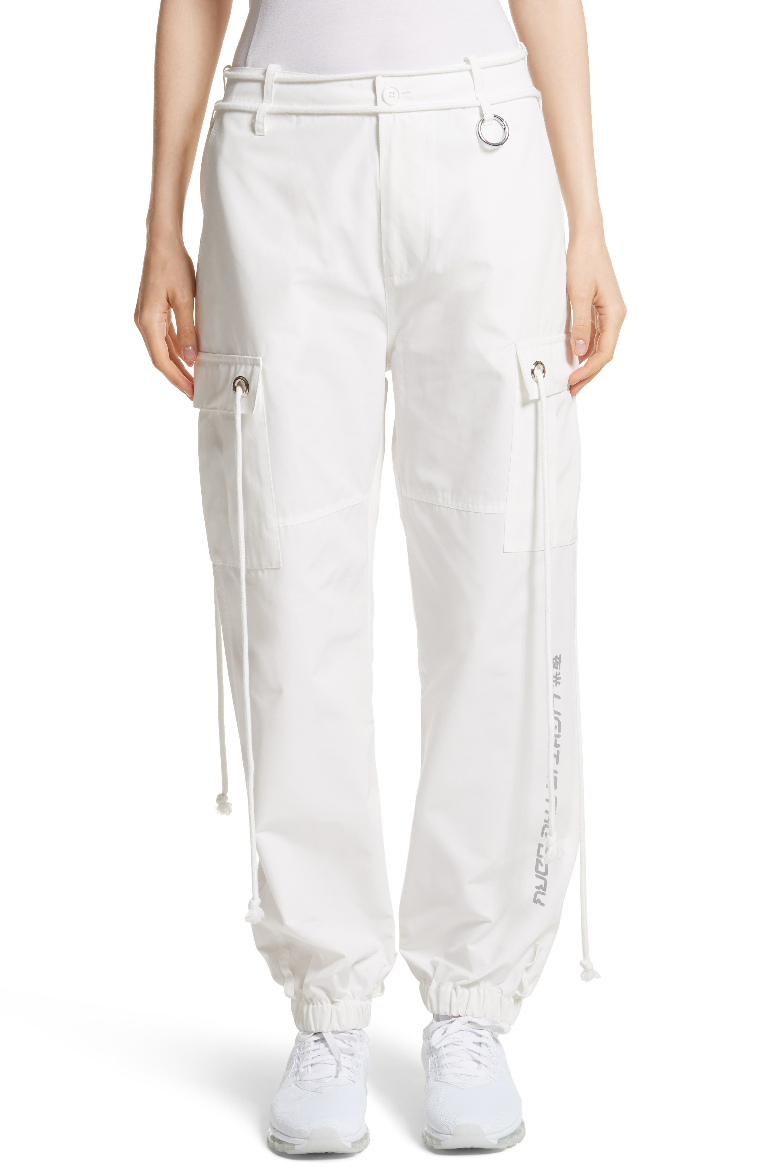 Light in the Dark Cargo Pants,                         Main,                         color, White